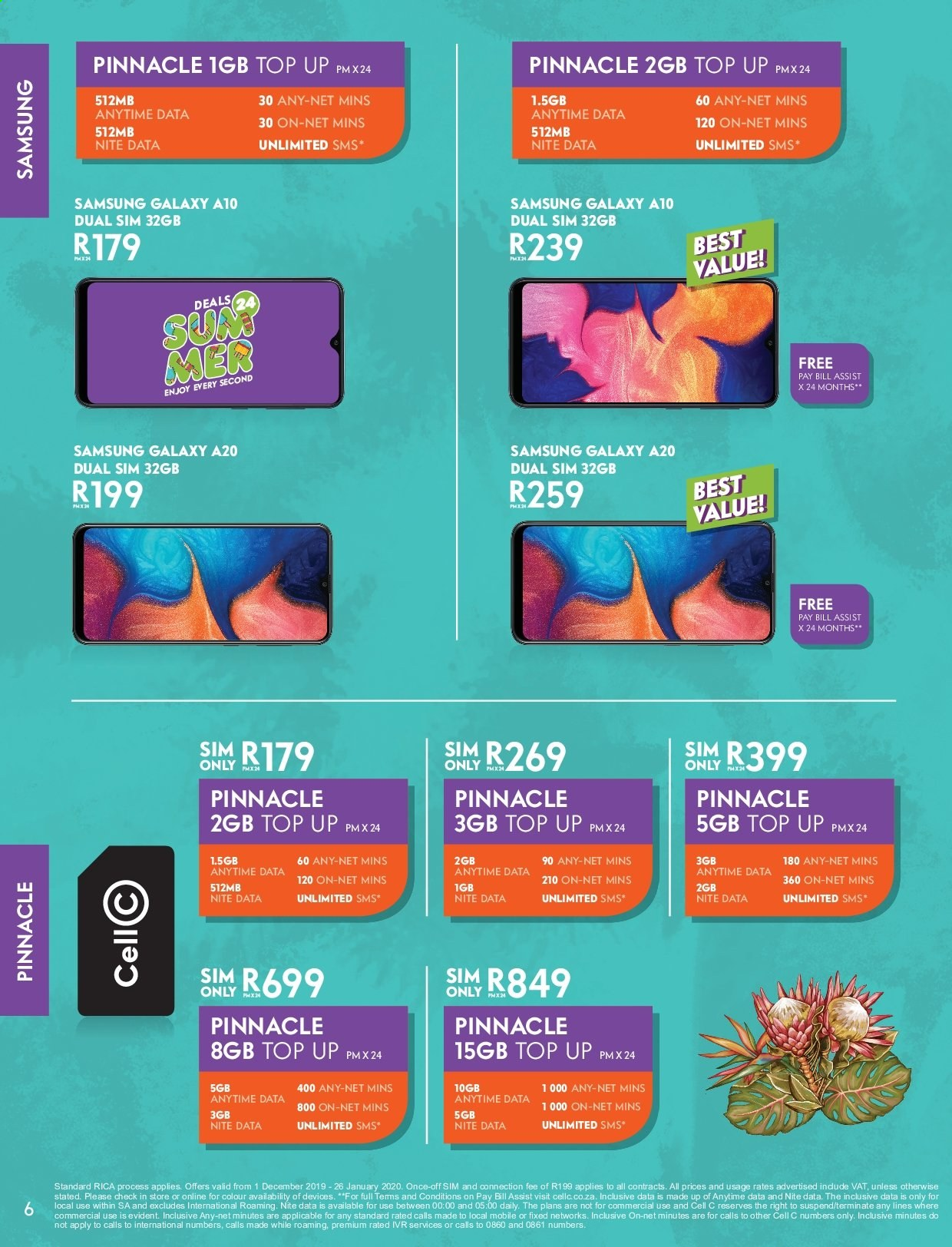 Cell C catalogue  - 12.01.2019 - 01.26.2020. Page 6.