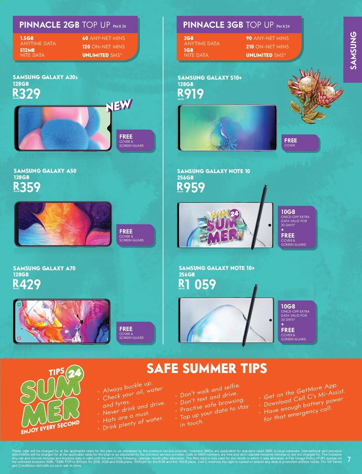 Cell C catalogue  - 12.01.2019 - 01.26.2020. Page 7.