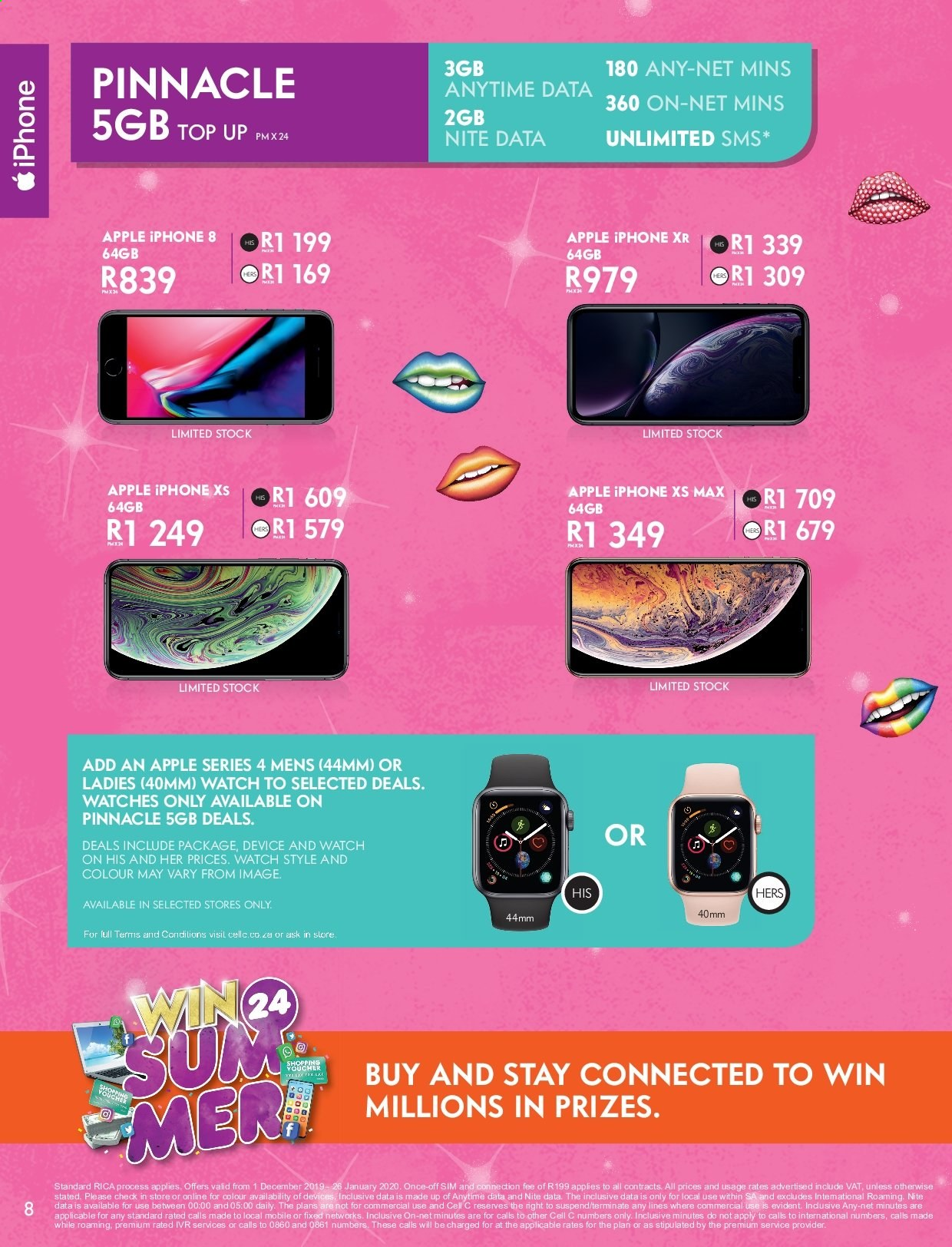 Cell C catalogue  - 12.01.2019 - 01.26.2020. Page 8.