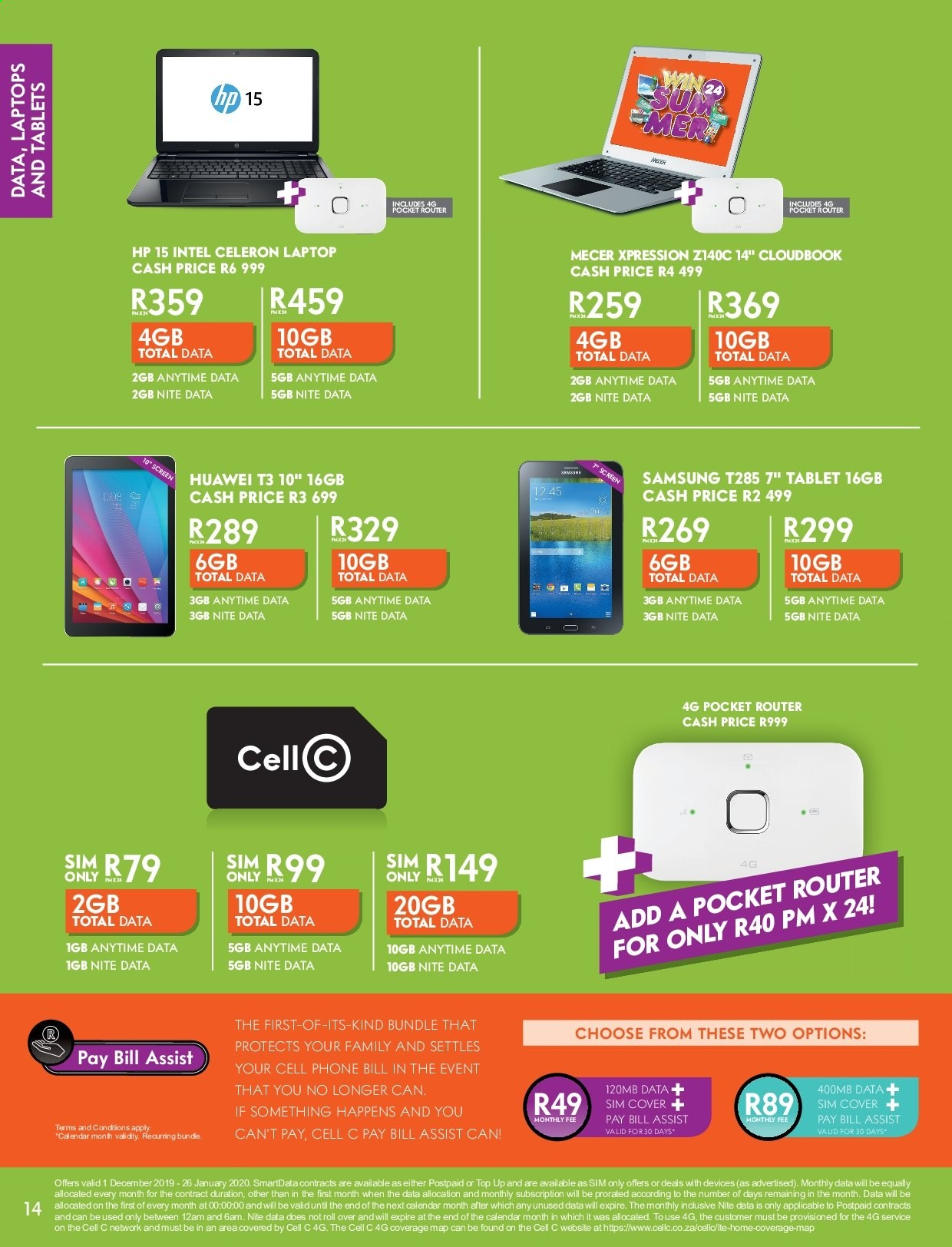 Cell C catalogue  - 12.01.2019 - 01.26.2020. Page 14.