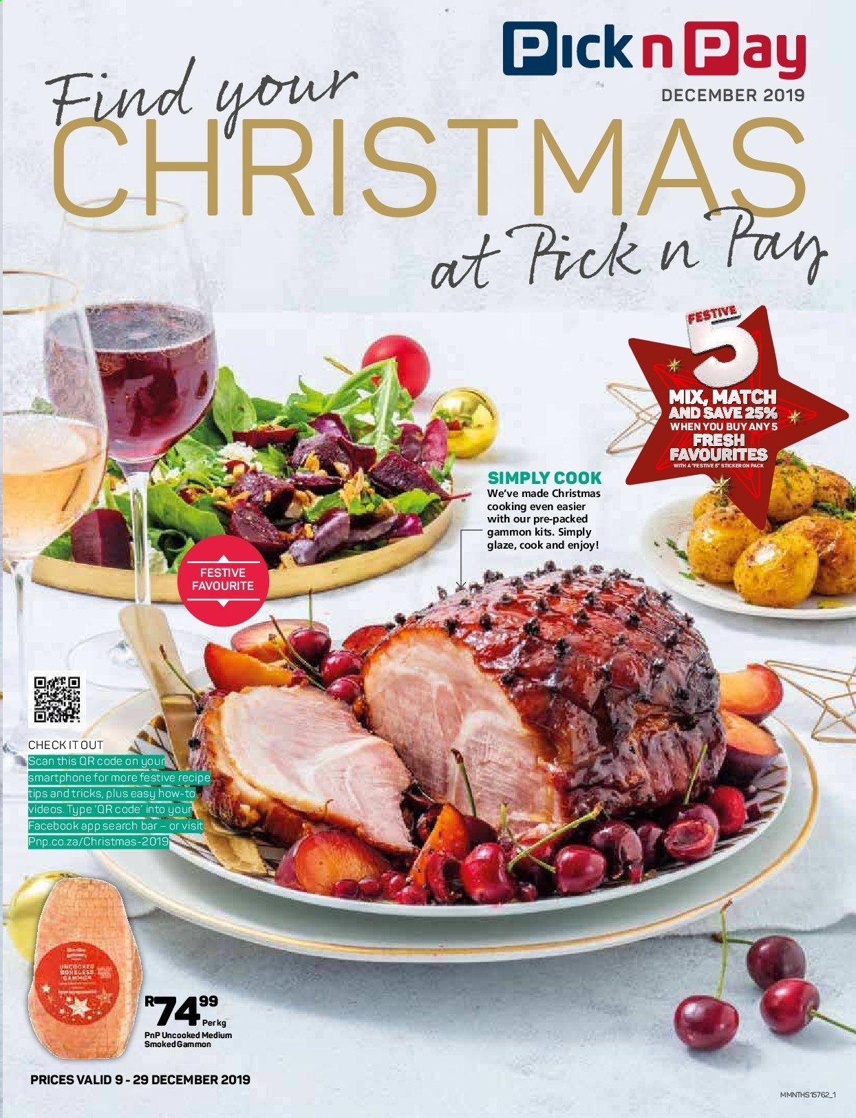Pick n Pay catalogue  - 12.09.2019 - 12.29.2019. Page 1.