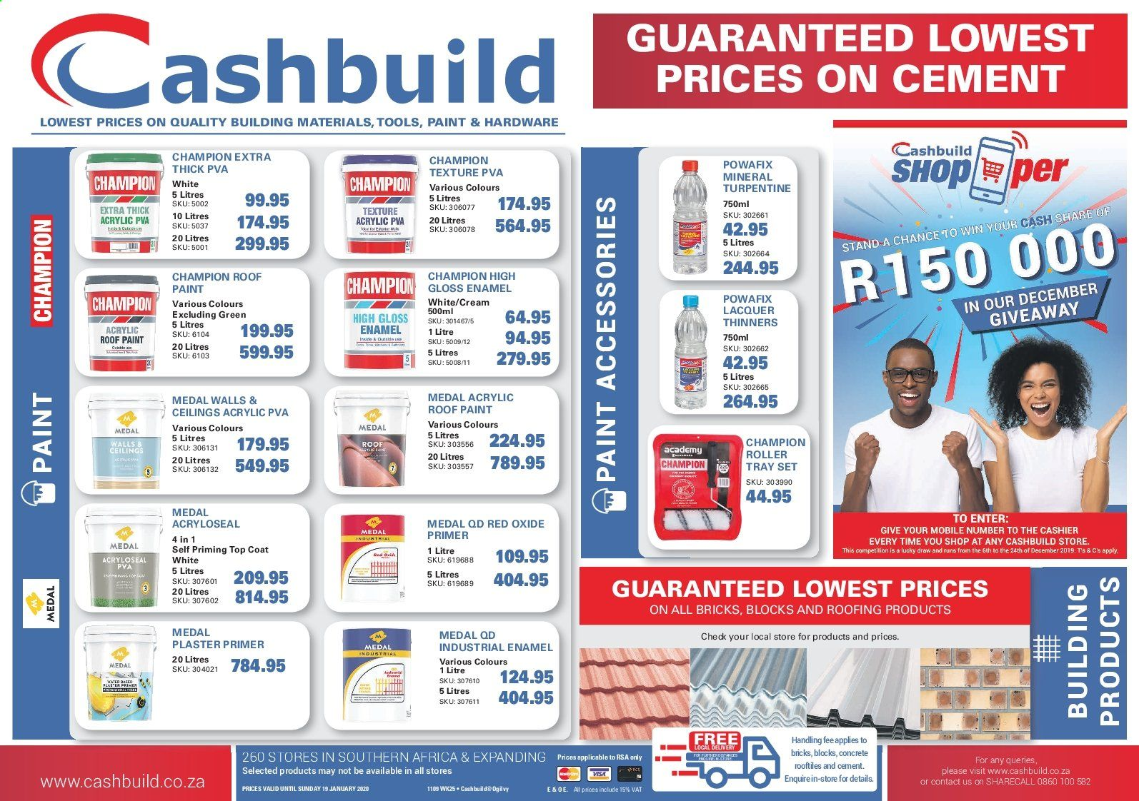 Cashbuild catalogue  - 12.19.2019 - 01.19.2020. Page 1.