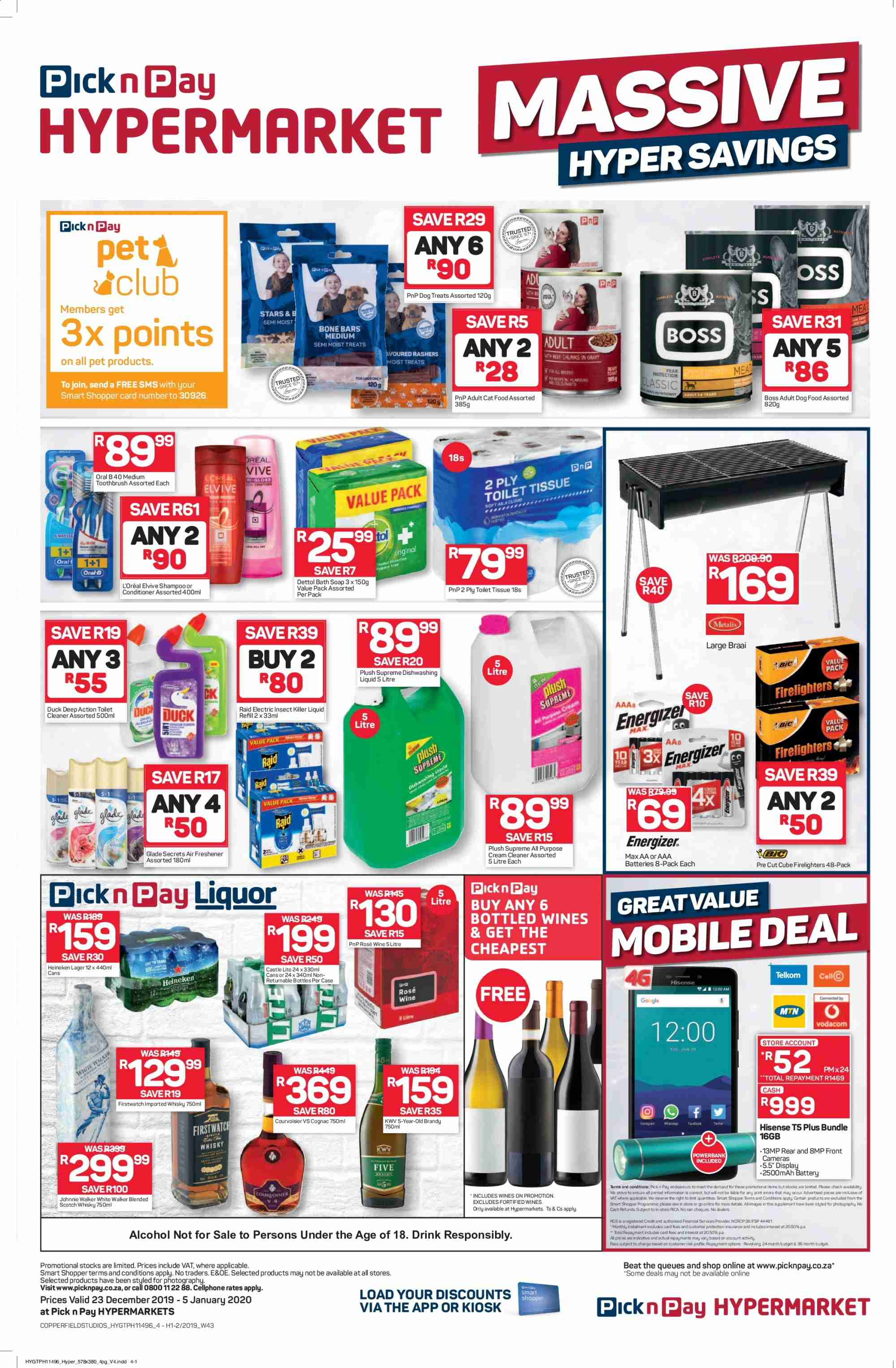Pick n Pay catalogue  - 12.23.2019 - 01.05.2020. Page 4.