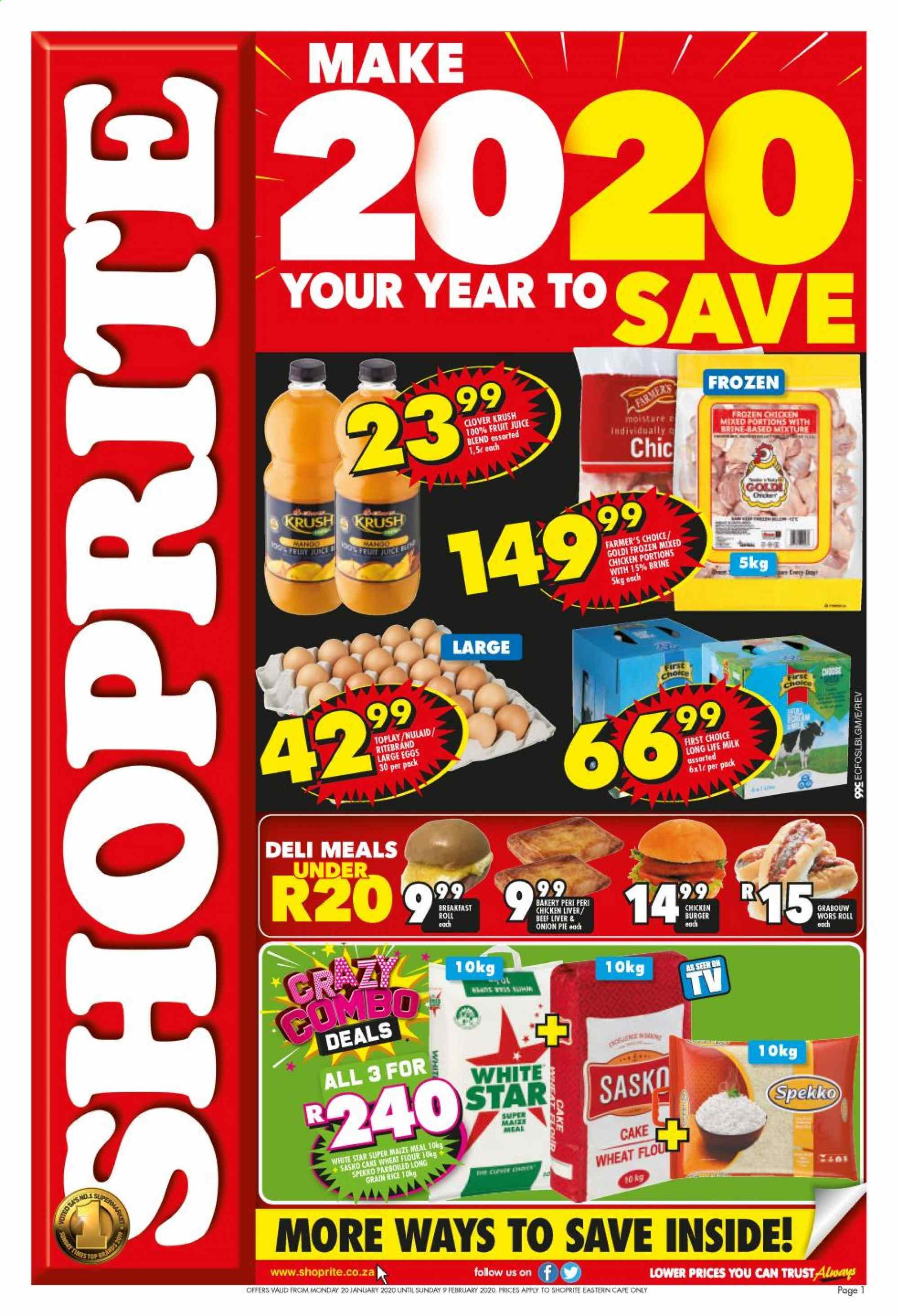 Shoprite catalogue  - 01.20.2020 - 02.09.2020. Page 1.