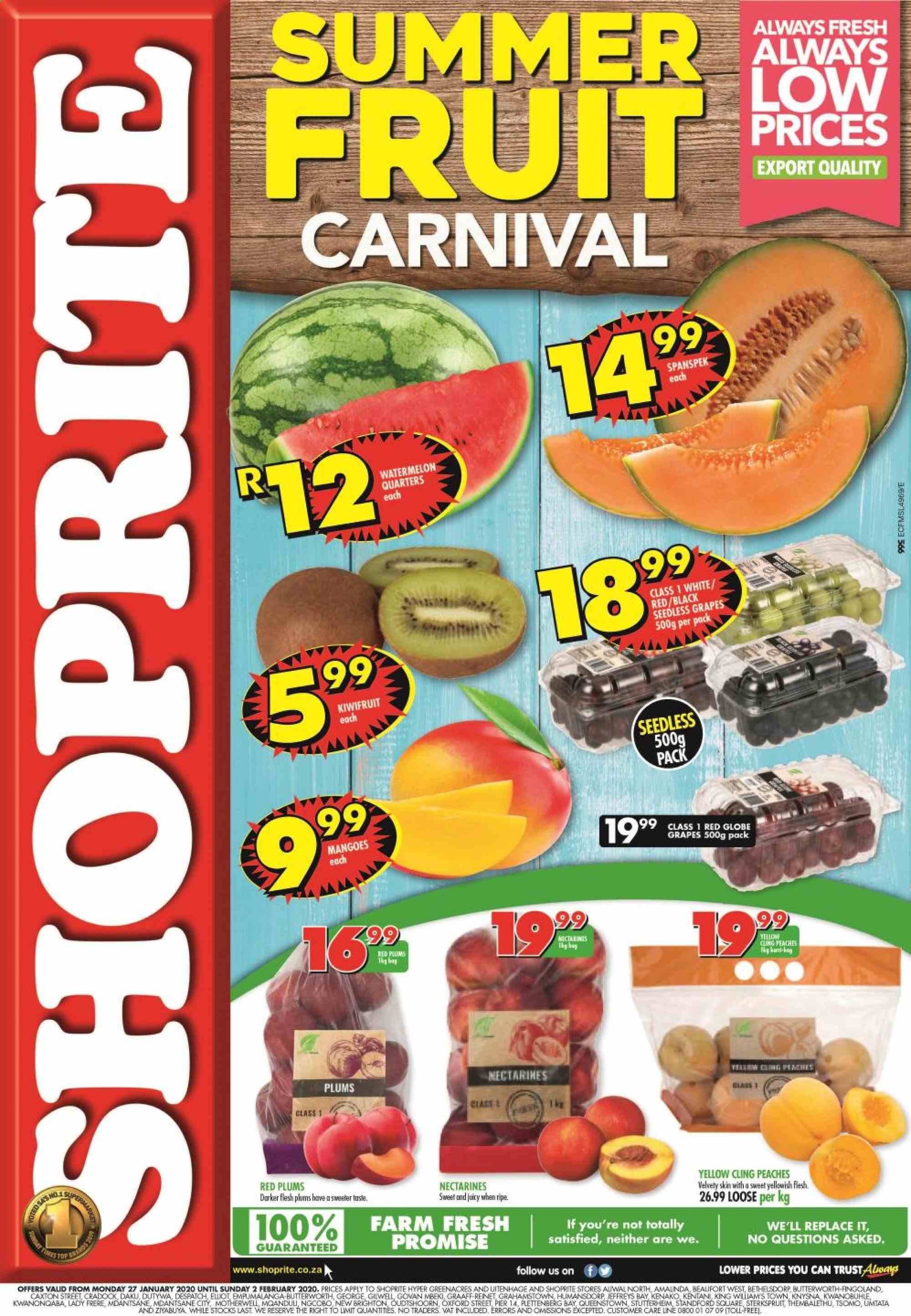 Shoprite catalogue  - 01.27.2020 - 02.02.2020. Page 1.