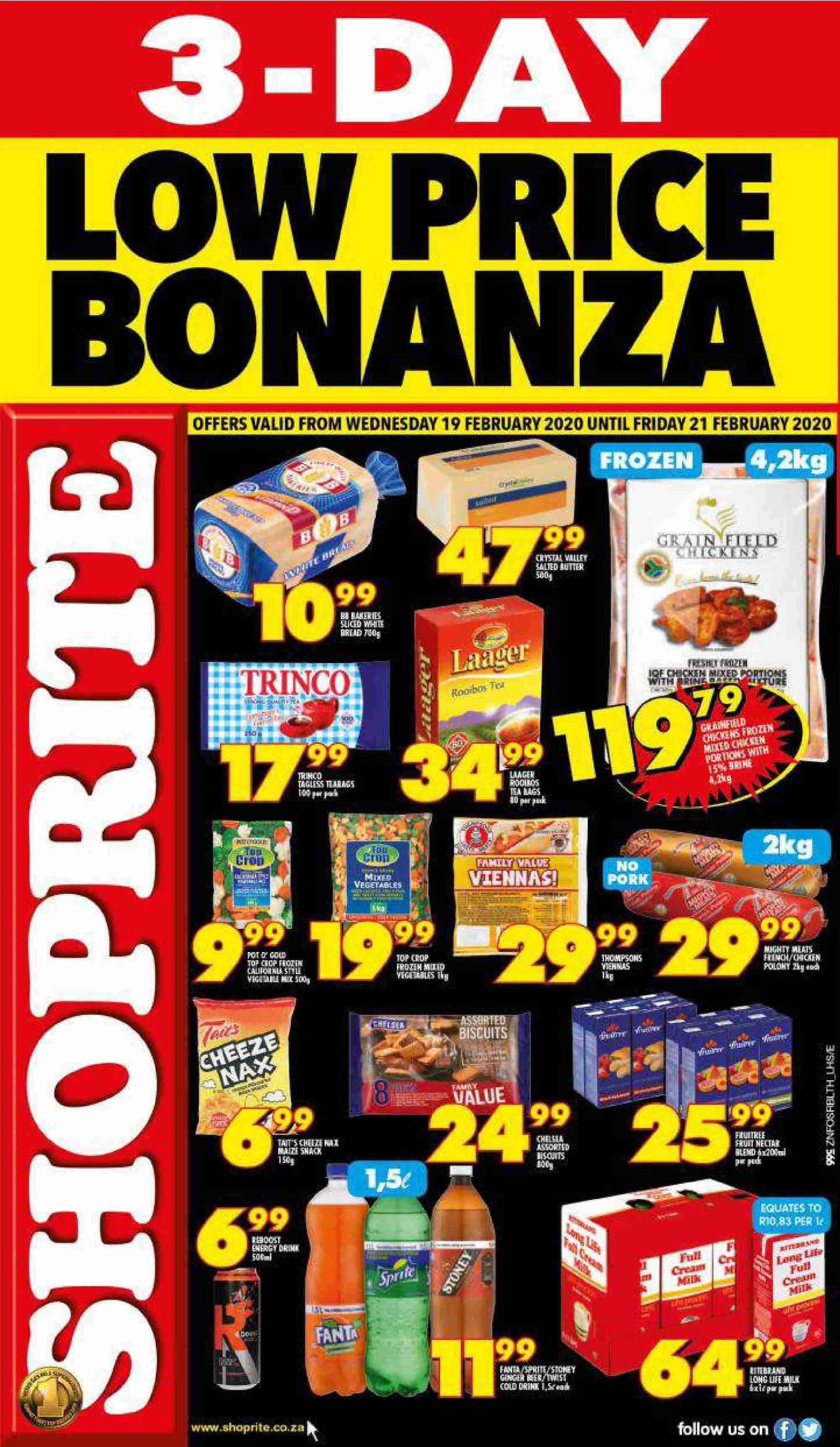 Shoprite catalogue  - 02.19.2020 - 02.21.2020. Page 1.