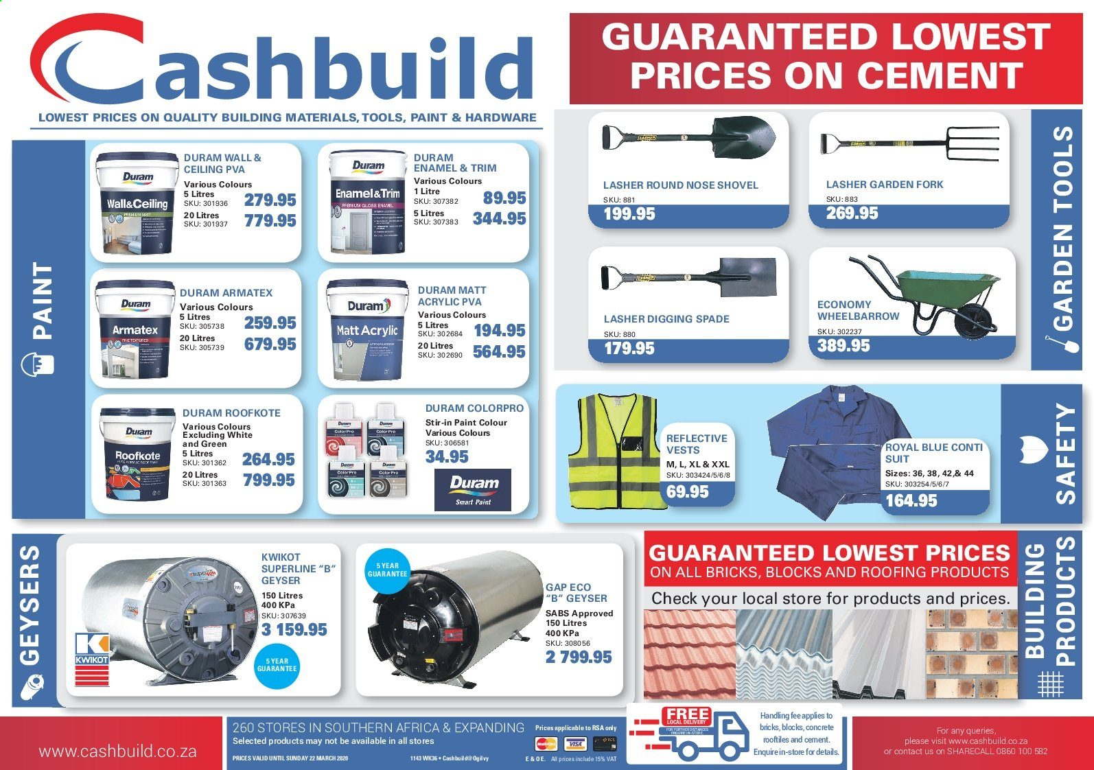 Cashbuild catalogue  - 03.02.2020 - 03.22.2020. Page 1.