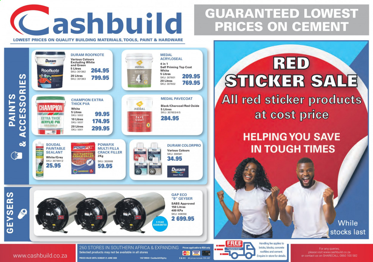 Cashbuild catalogue  - 06.01.2020 - 06.21.2020. Page 1.