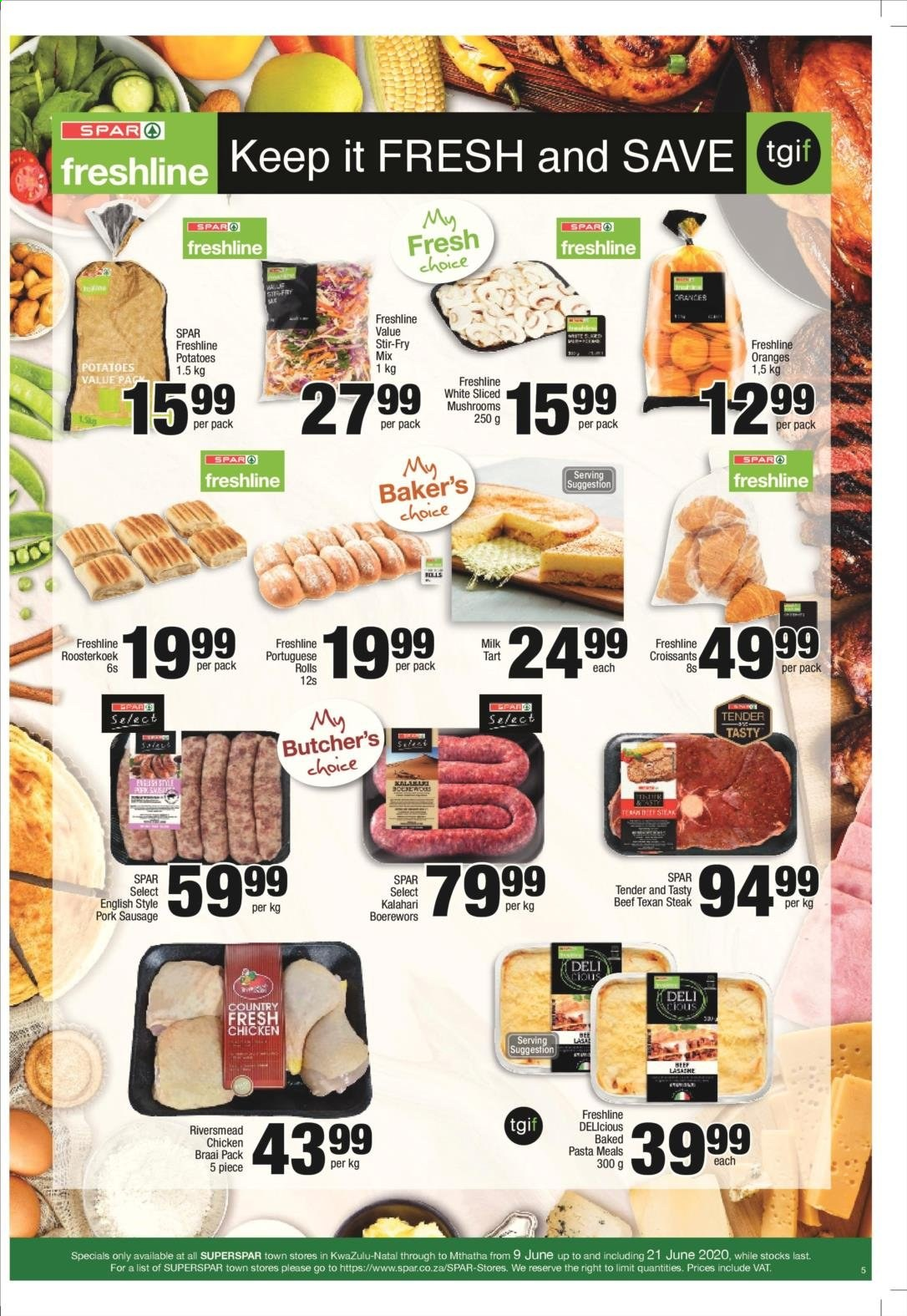SPAR catalogue . Page 9.