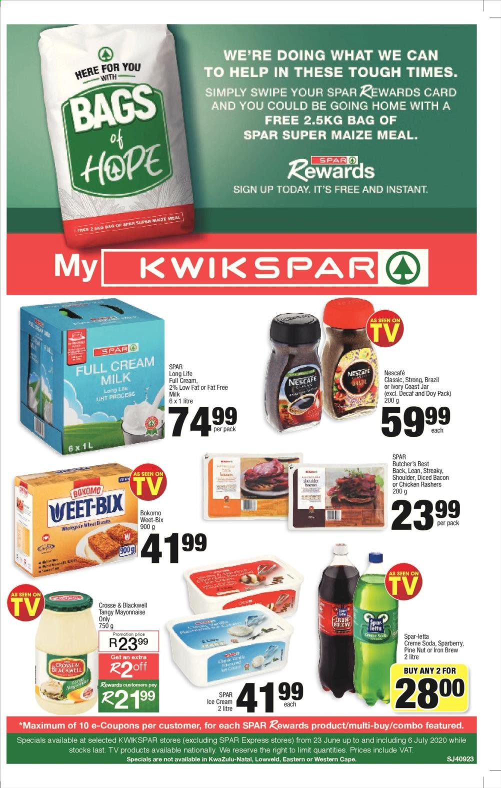 SPAR catalogue . Page 1.