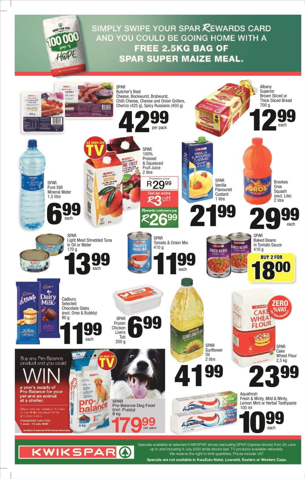 SPAR catalogue . Page 2.