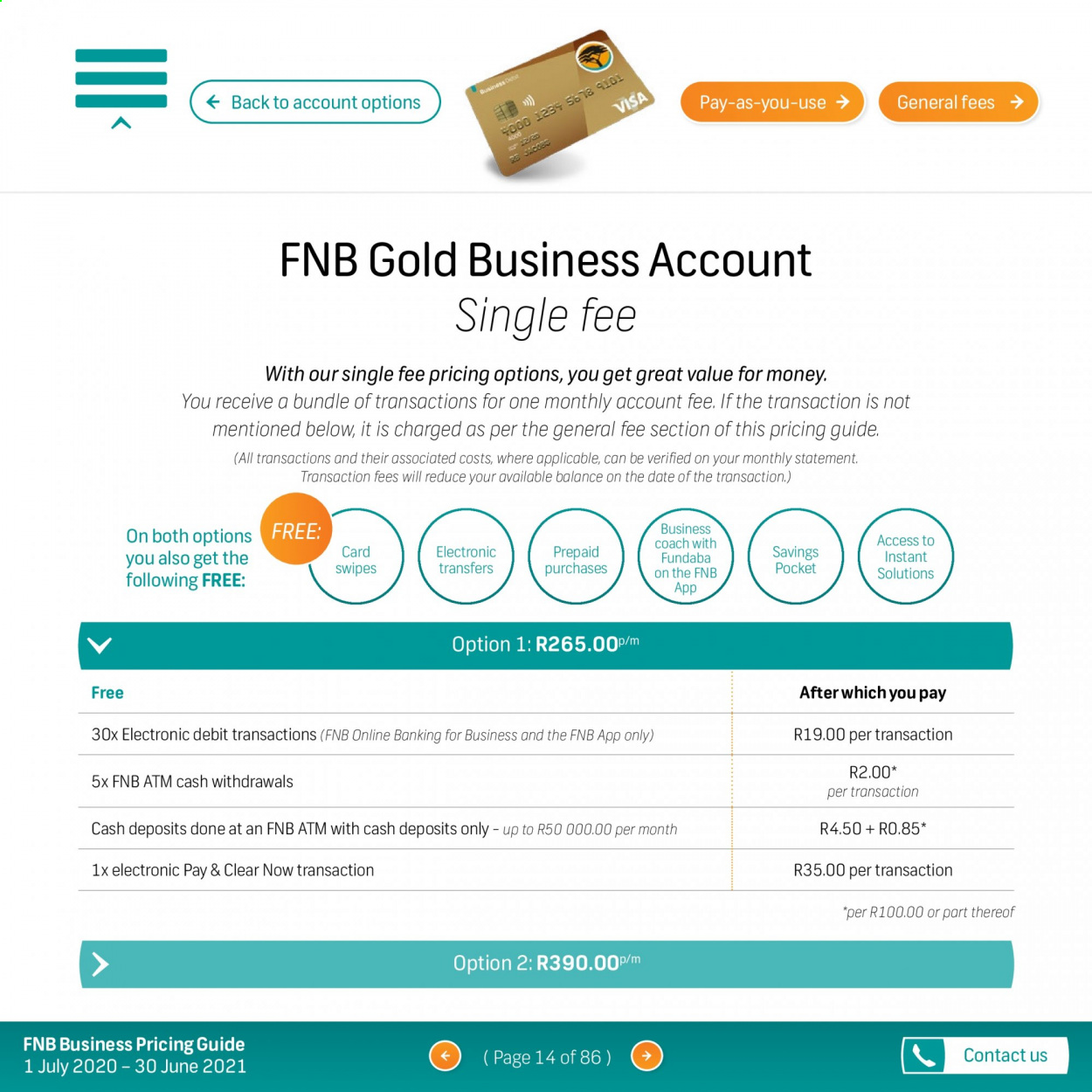 FNB catalogue  - 07.01.2020 - 06.30.2021. Page 14.