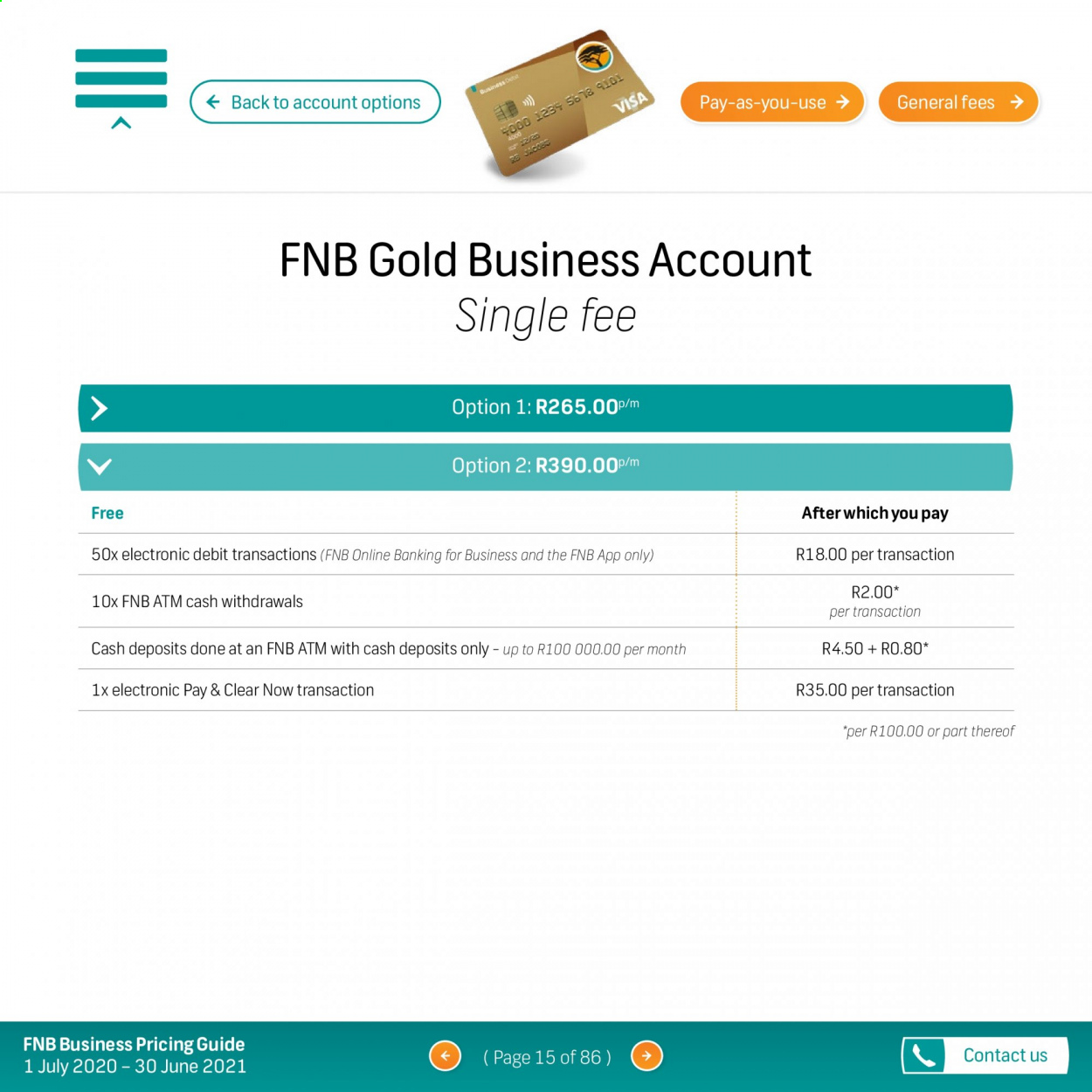 FNB catalogue  - 07.01.2020 - 06.30.2021. Page 15.