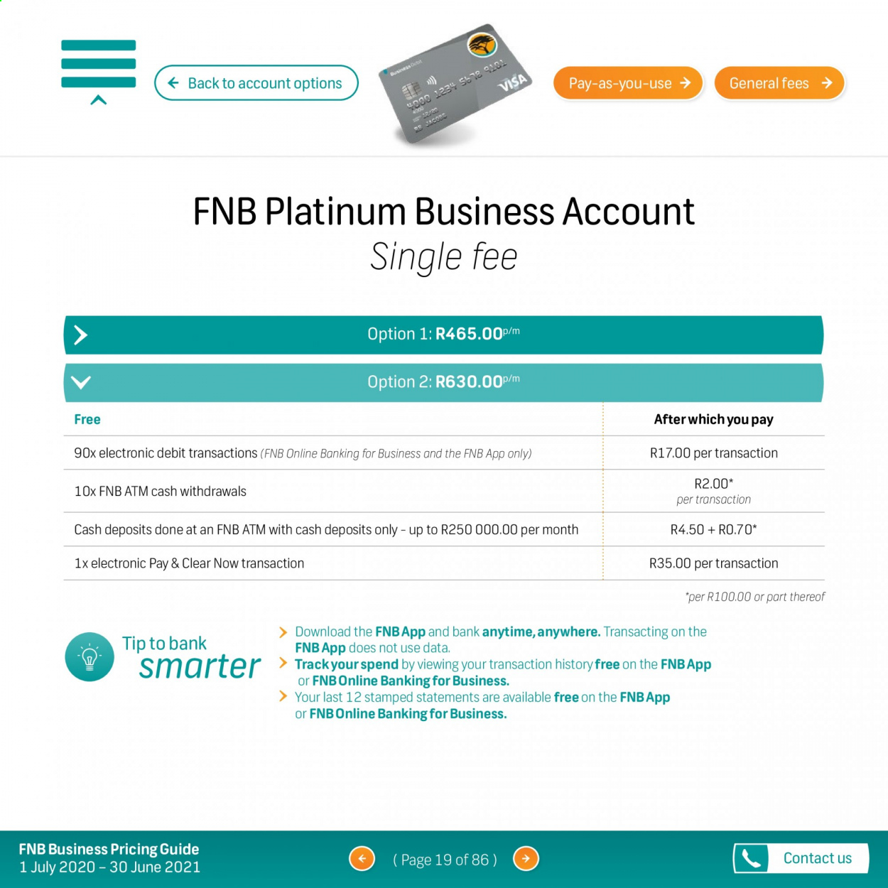 FNB catalogue  - 07.01.2020 - 06.30.2021. Page 19.