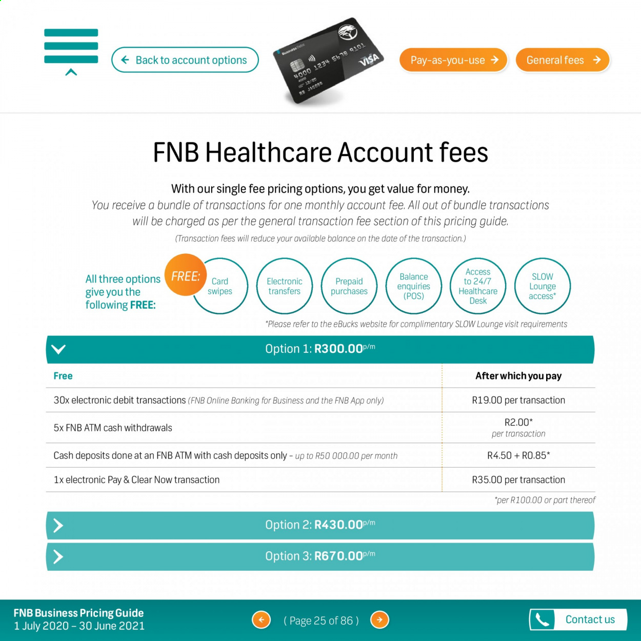 FNB catalogue  - 07.01.2020 - 06.30.2021. Page 25.