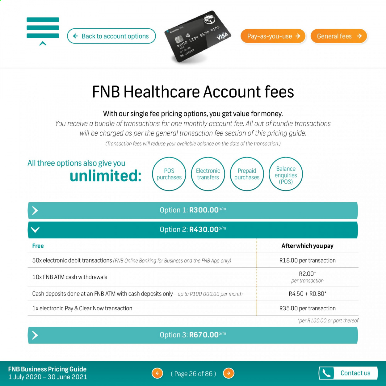 FNB catalogue  - 07.01.2020 - 06.30.2021. Page 26.