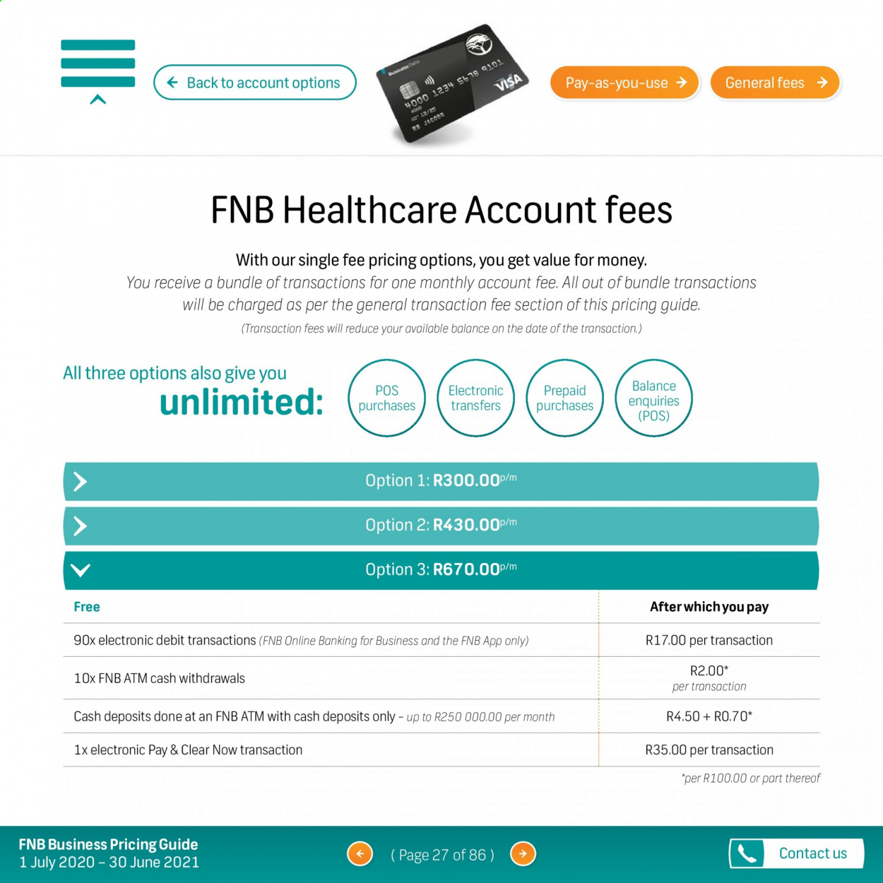 FNB catalogue  - 07.01.2020 - 06.30.2021. Page 27.
