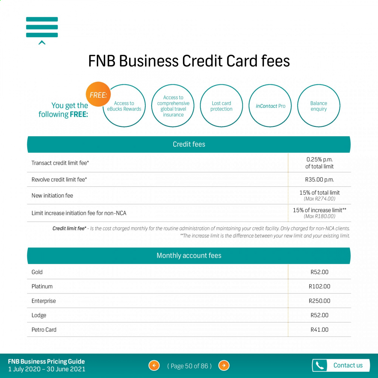 FNB catalogue  - 07.01.2020 - 06.30.2021. Page 50.