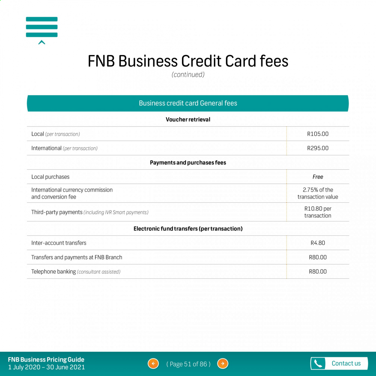 FNB catalogue  - 07.01.2020 - 06.30.2021. Page 51.