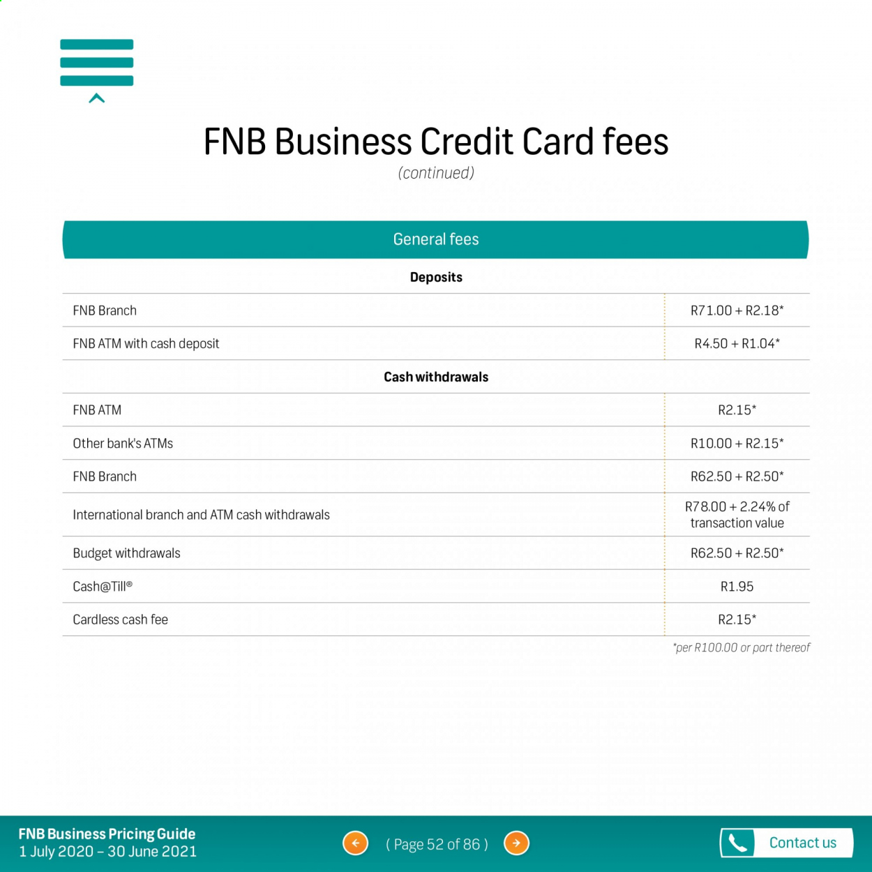FNB catalogue  - 07.01.2020 - 06.30.2021. Page 52.