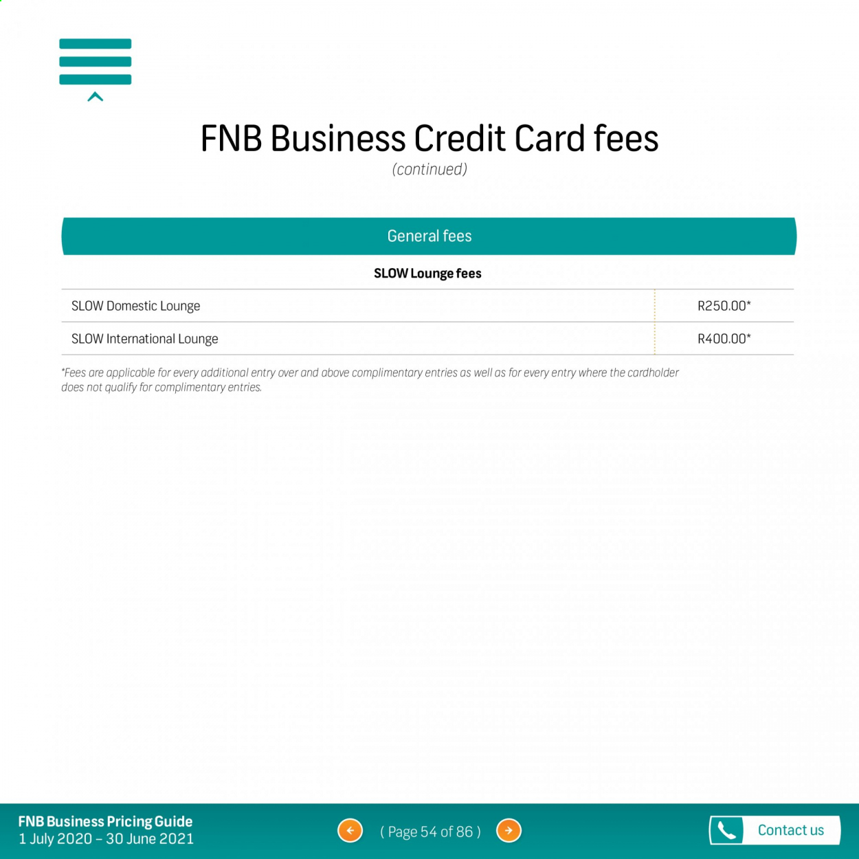FNB catalogue  - 07.01.2020 - 06.30.2021. Page 54.