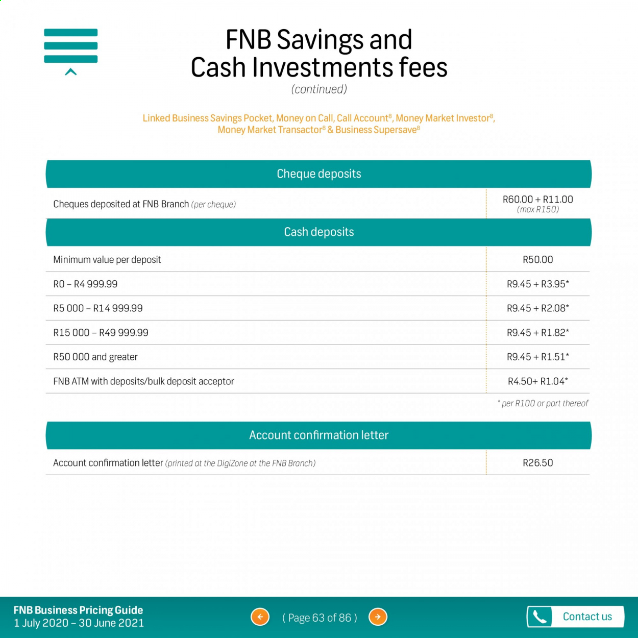 FNB catalogue  - 07.01.2020 - 06.30.2021. Page 63.