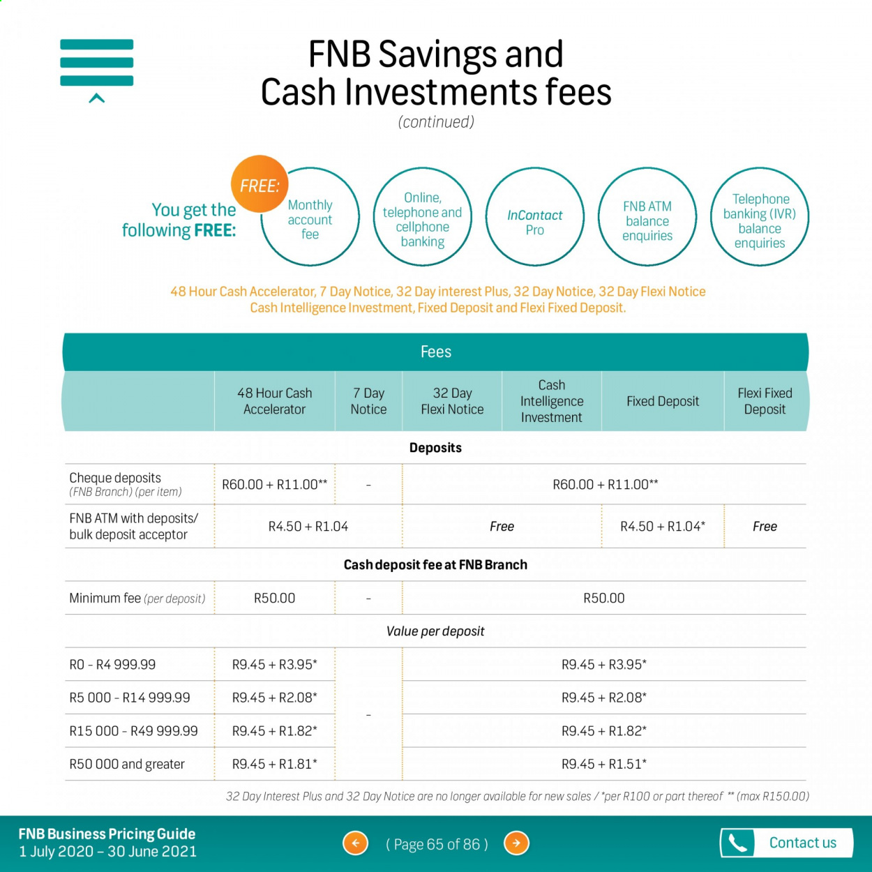 FNB catalogue  - 07.01.2020 - 06.30.2021. Page 65.