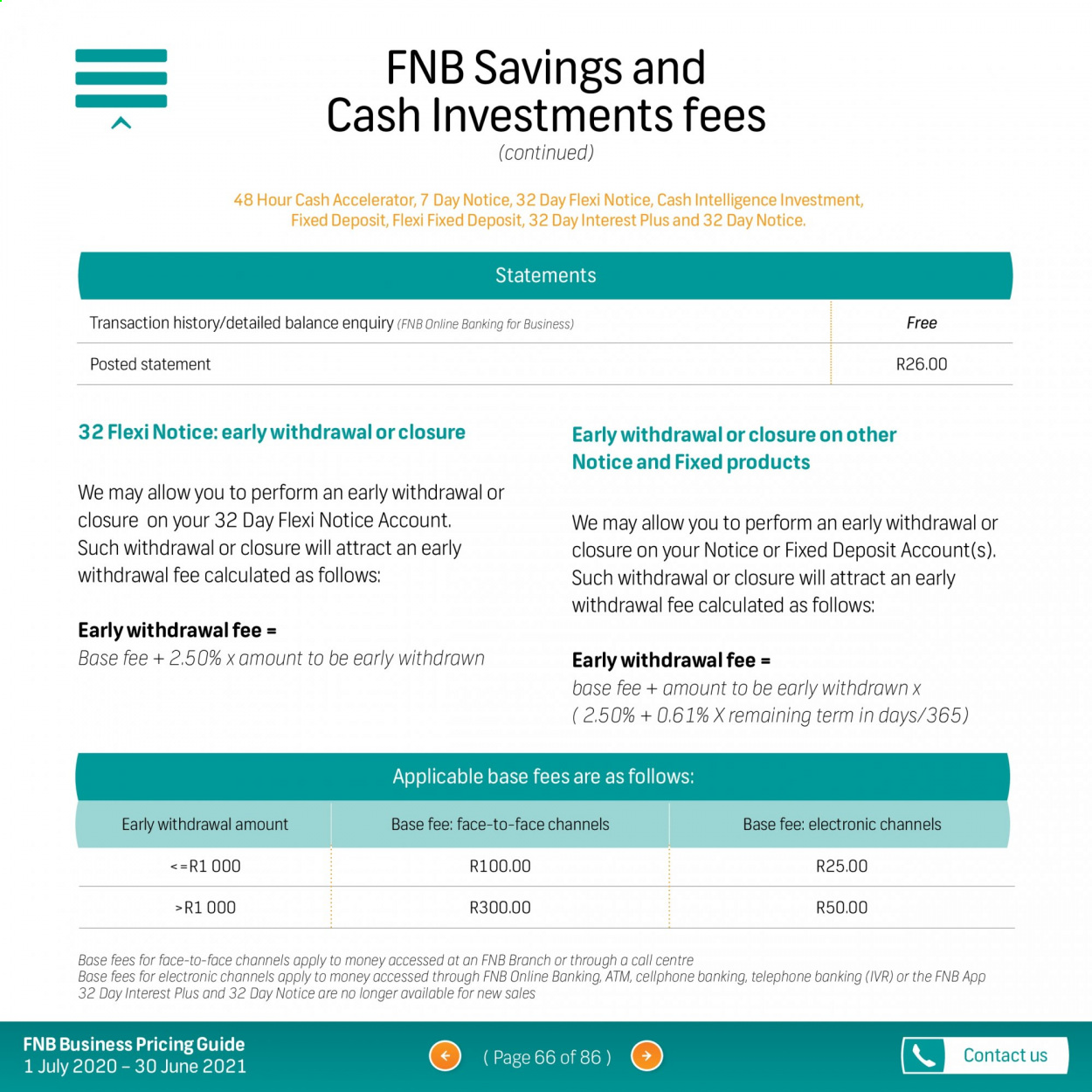 FNB catalogue  - 07.01.2020 - 06.30.2021. Page 66.