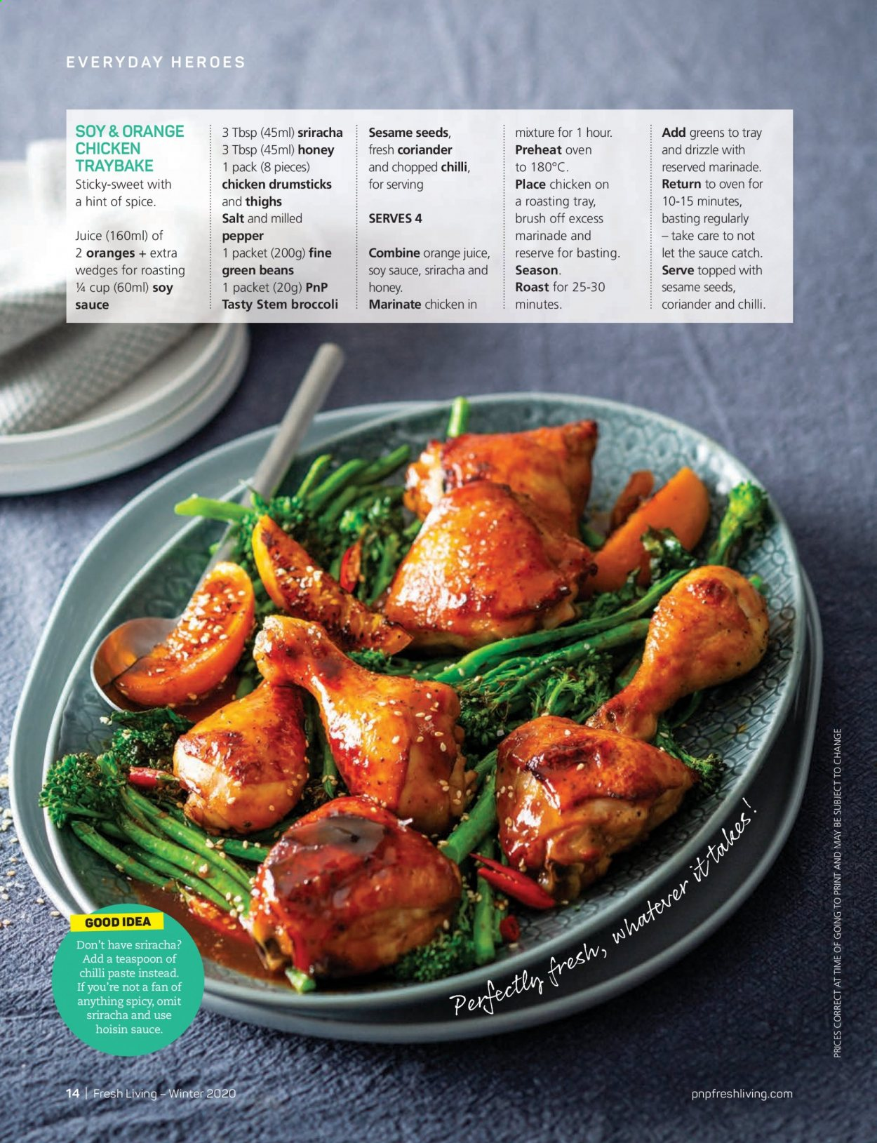 Pick n Pay catalogue . Page 14.
