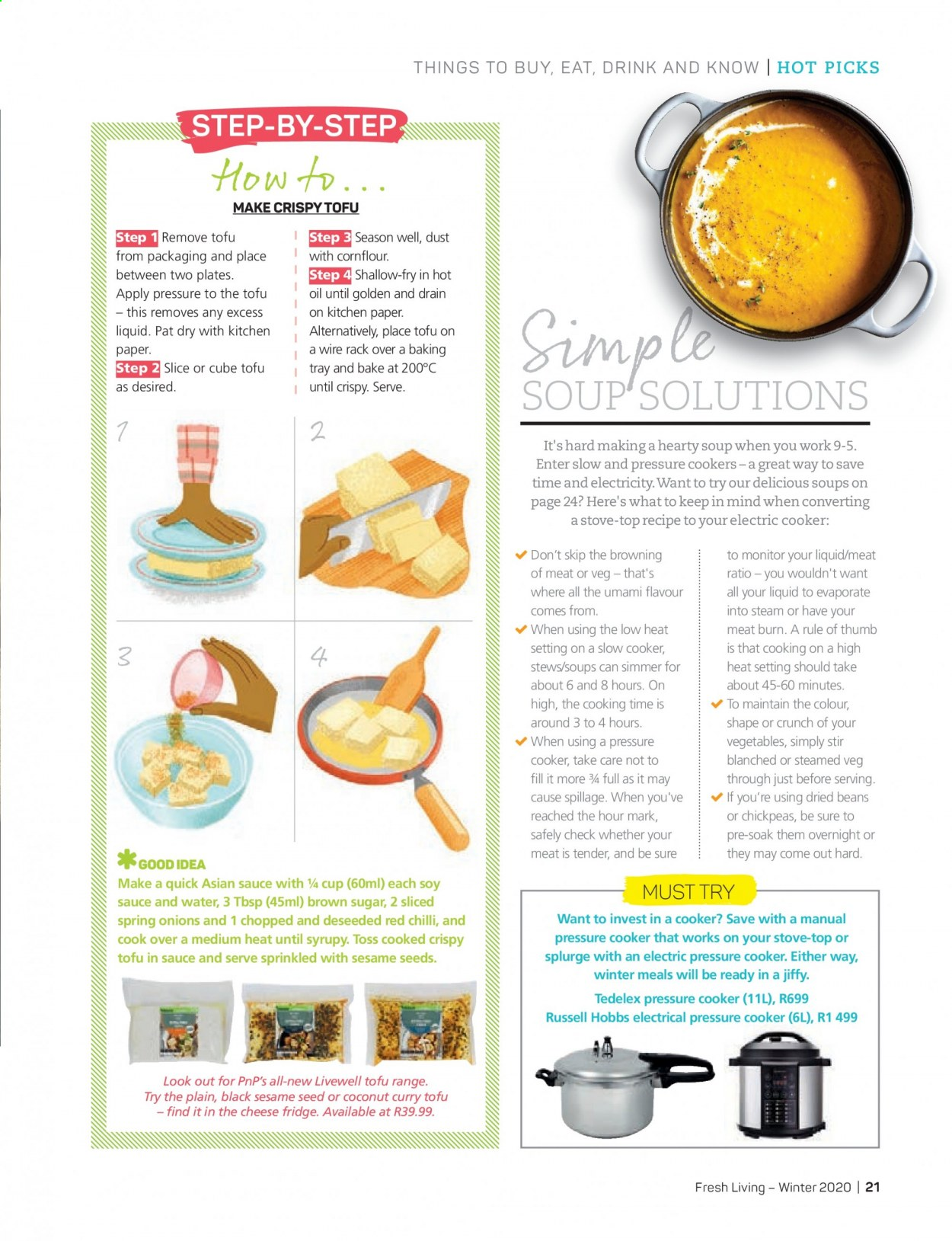 Pick n Pay catalogue . Page 21.
