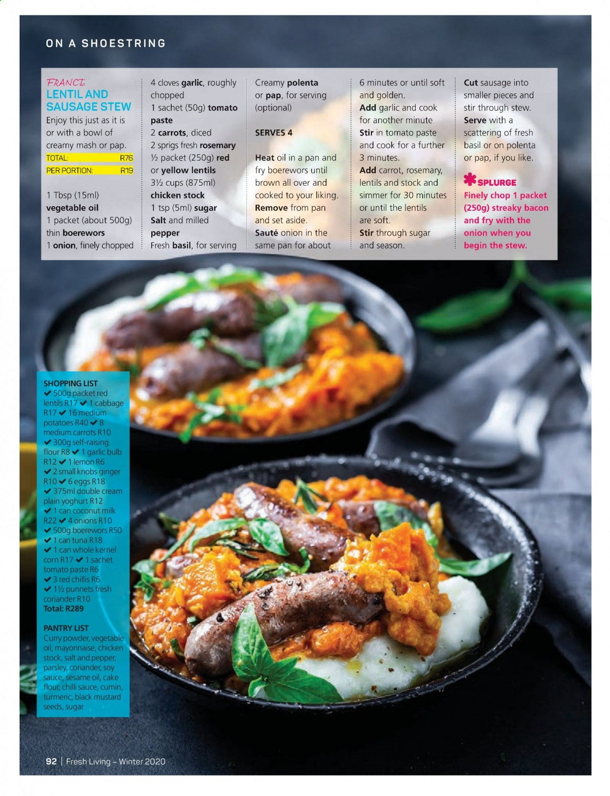 Pick n Pay catalogue . Page 92.