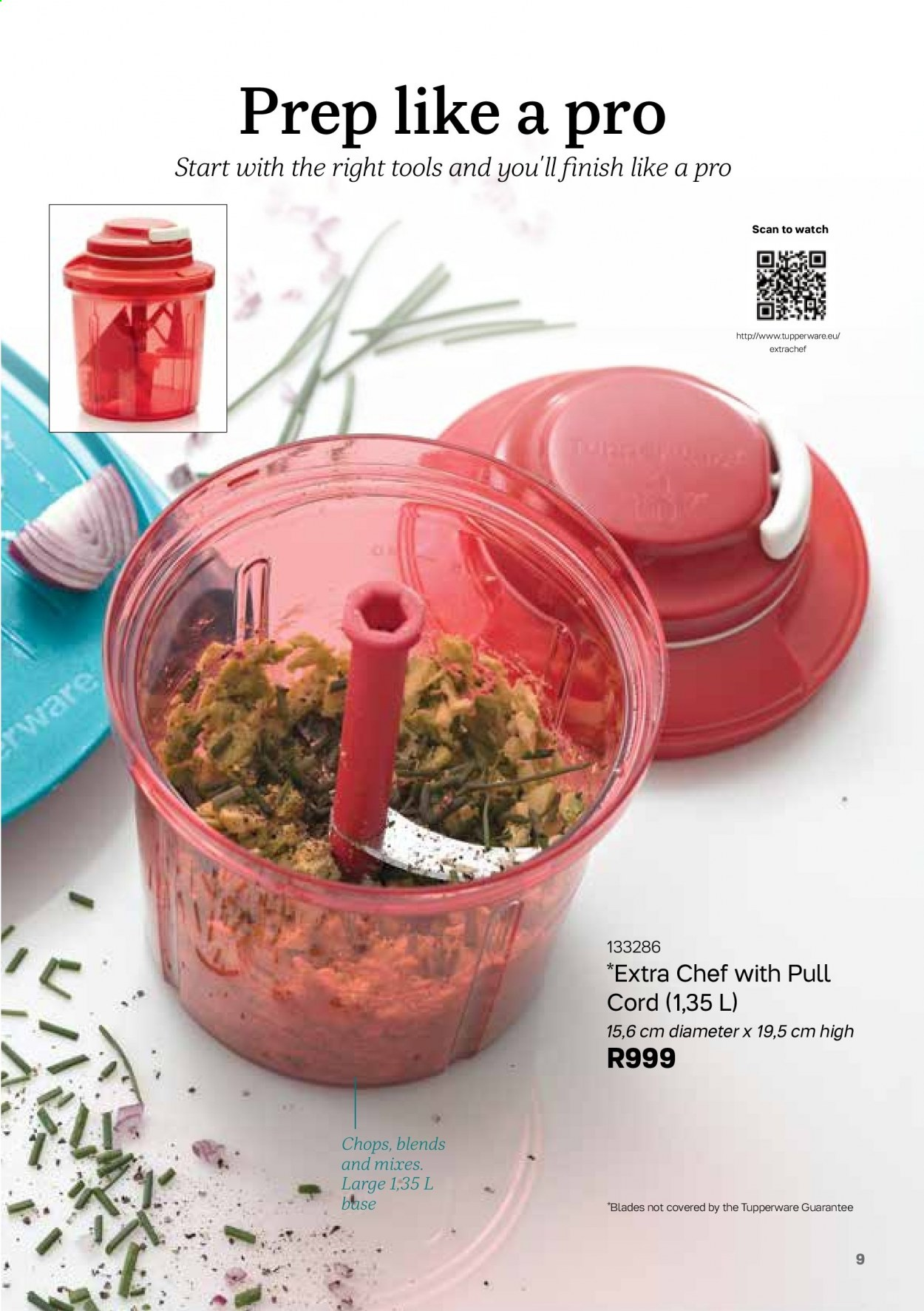 Tupperware catalogue . Page 9.