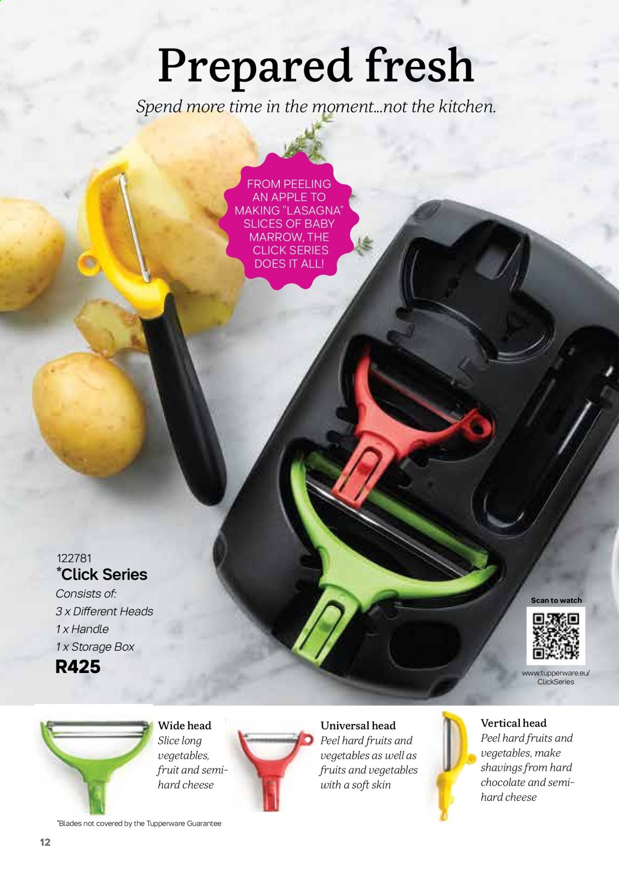 Tupperware catalogue . Page 12.