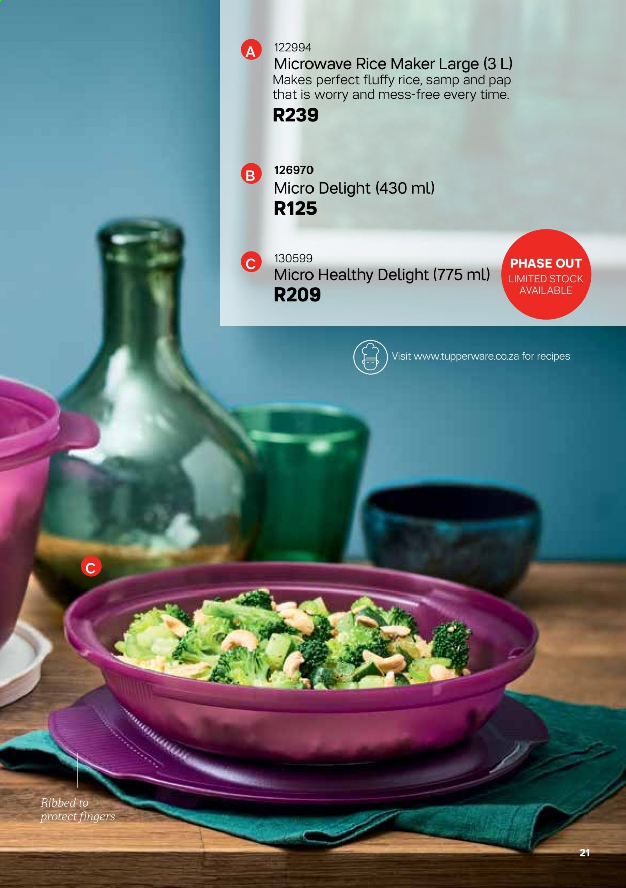 Tupperware catalogue . Page 21.