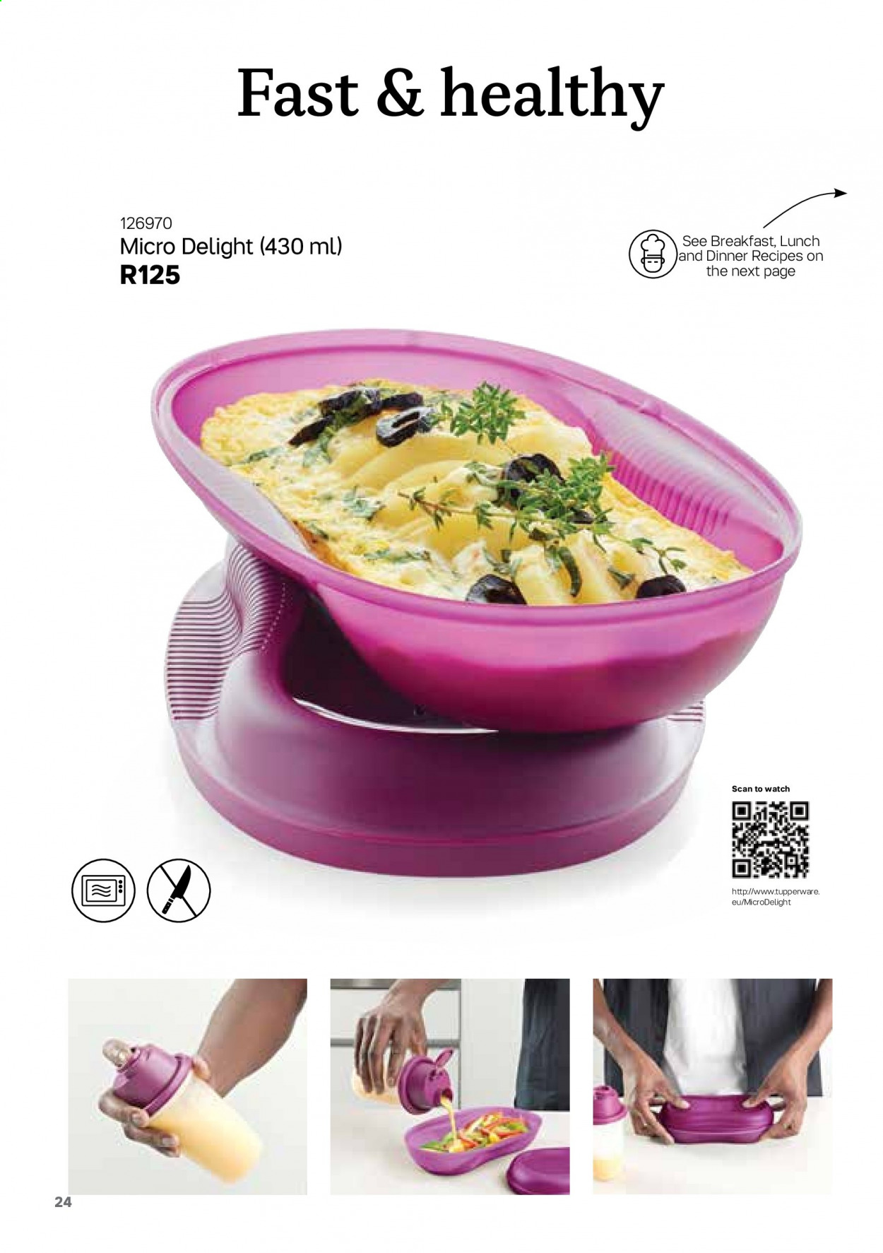 Tupperware catalogue . Page 24.