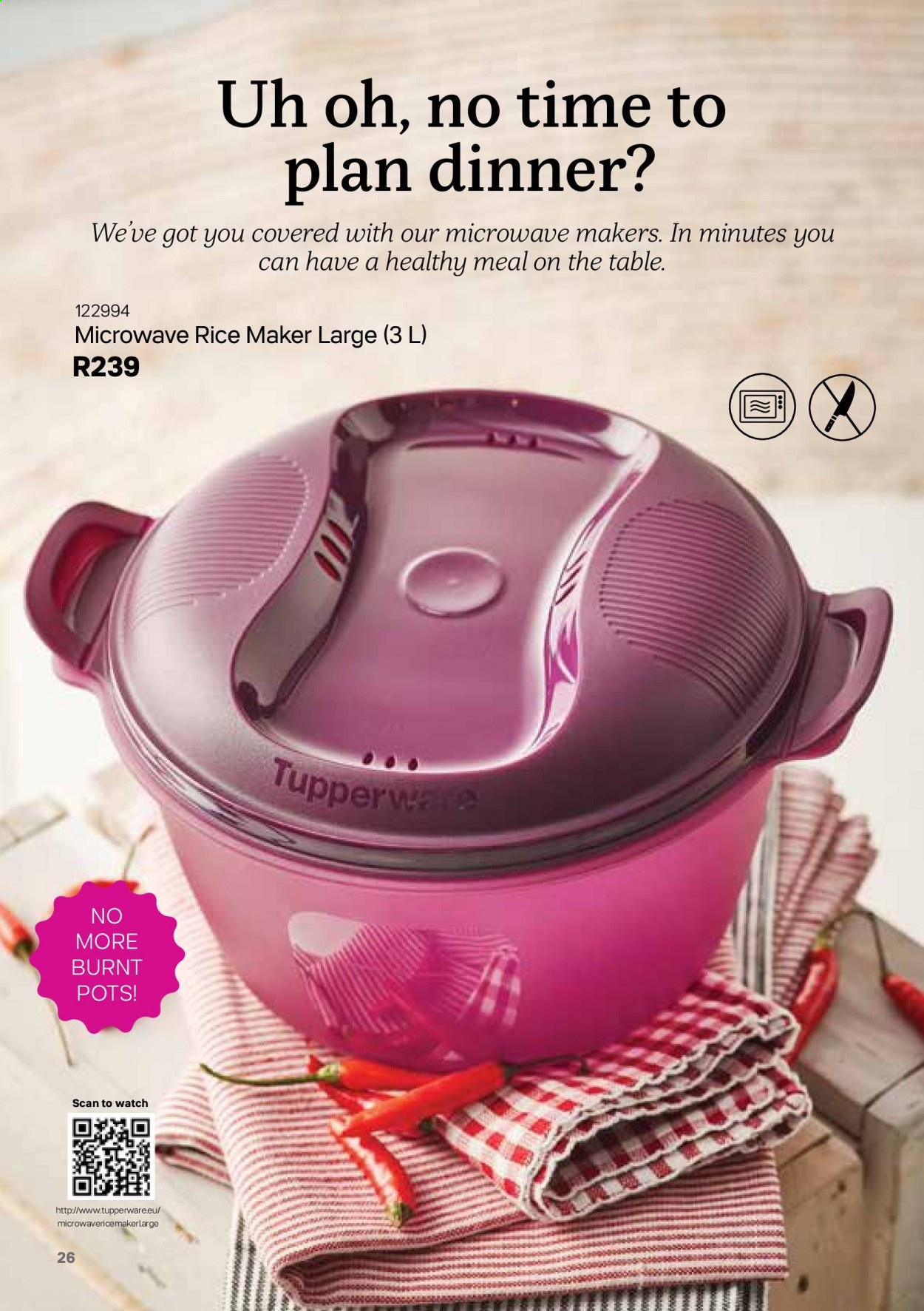 Tupperware catalogue . Page 26.