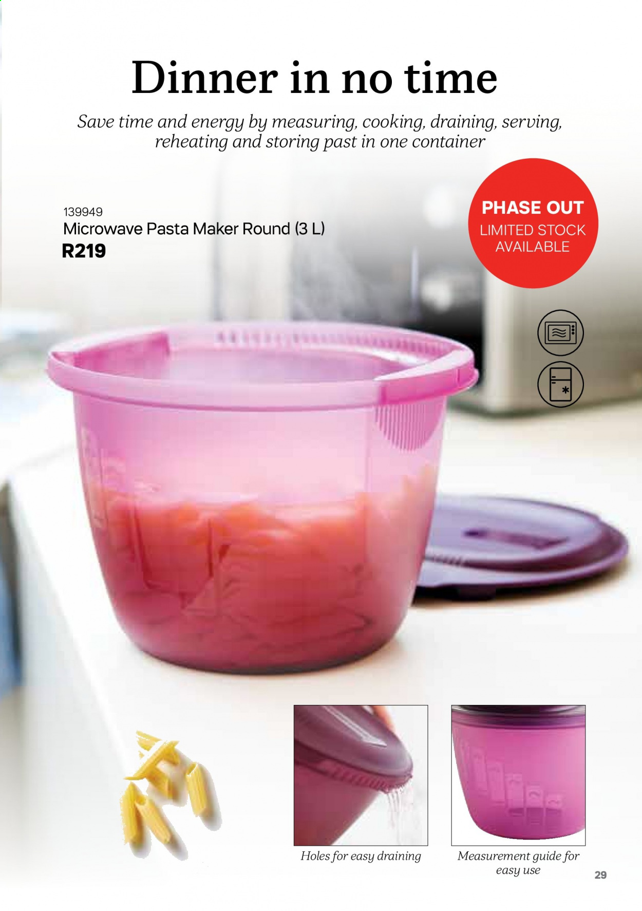 Tupperware catalogue . Page 29.