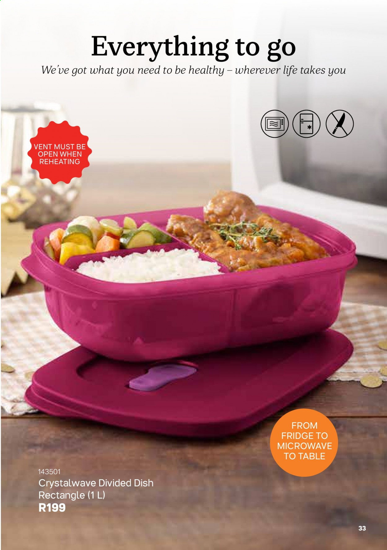 Tupperware catalogue . Page 33.
