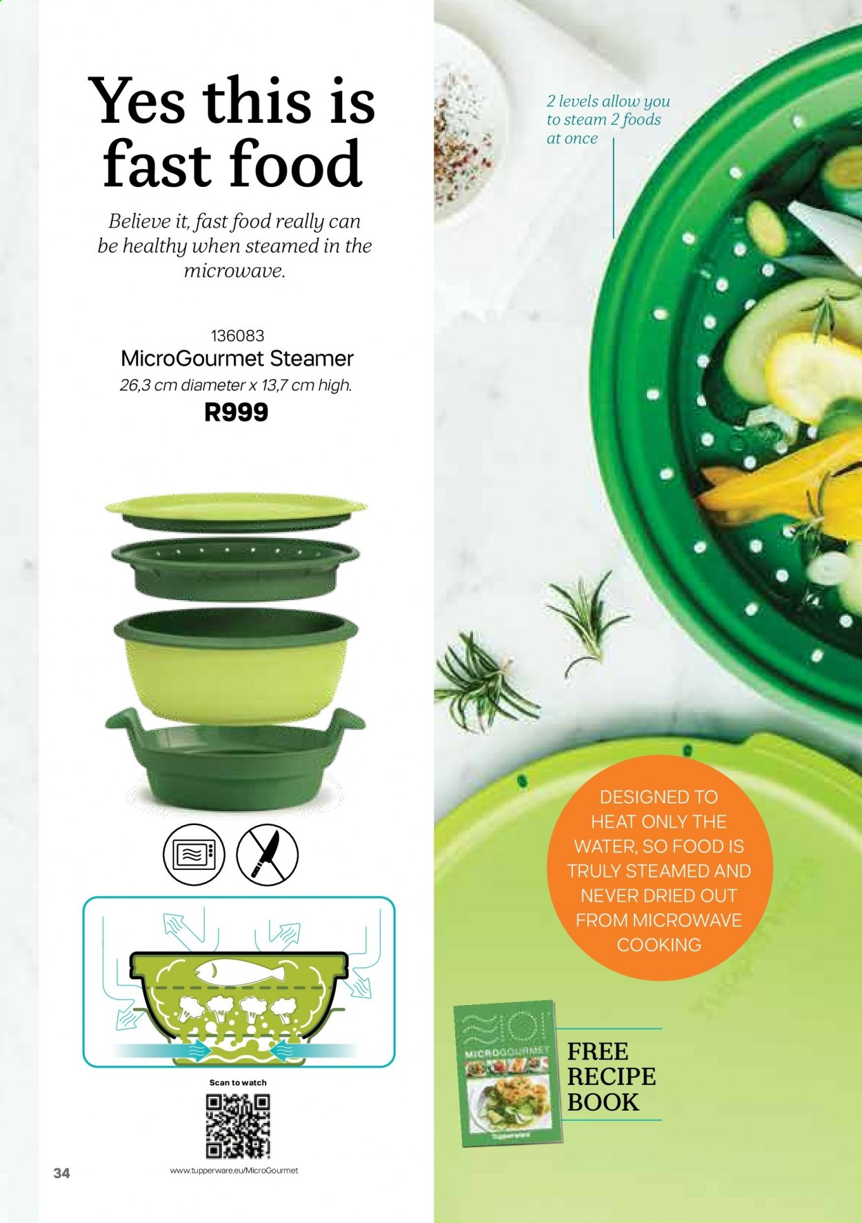 Tupperware catalogue . Page 34.