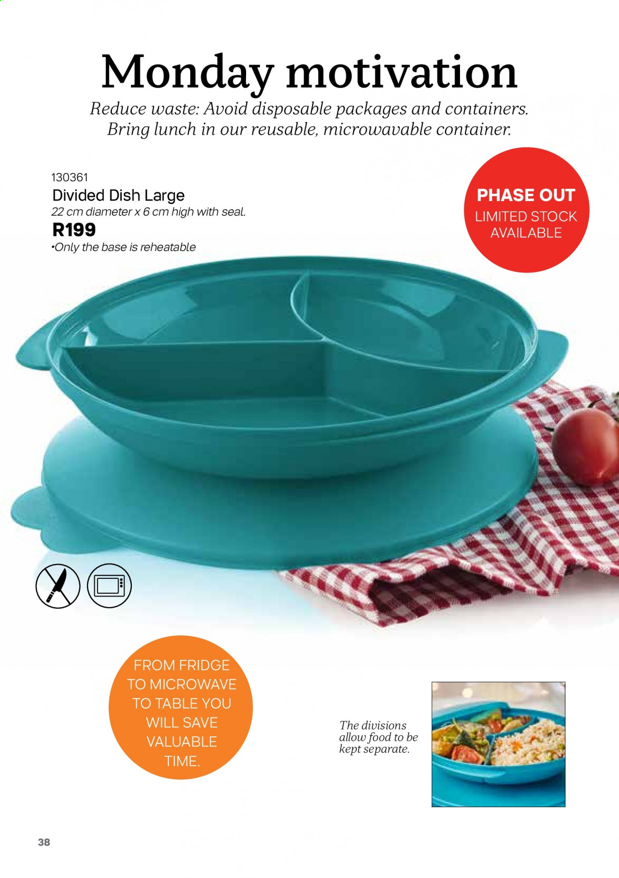 Tupperware catalogue . Page 38.