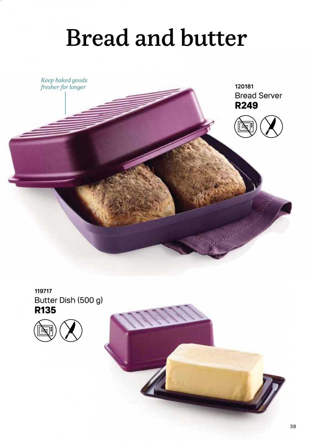 Tupperware catalogue . Page 39.