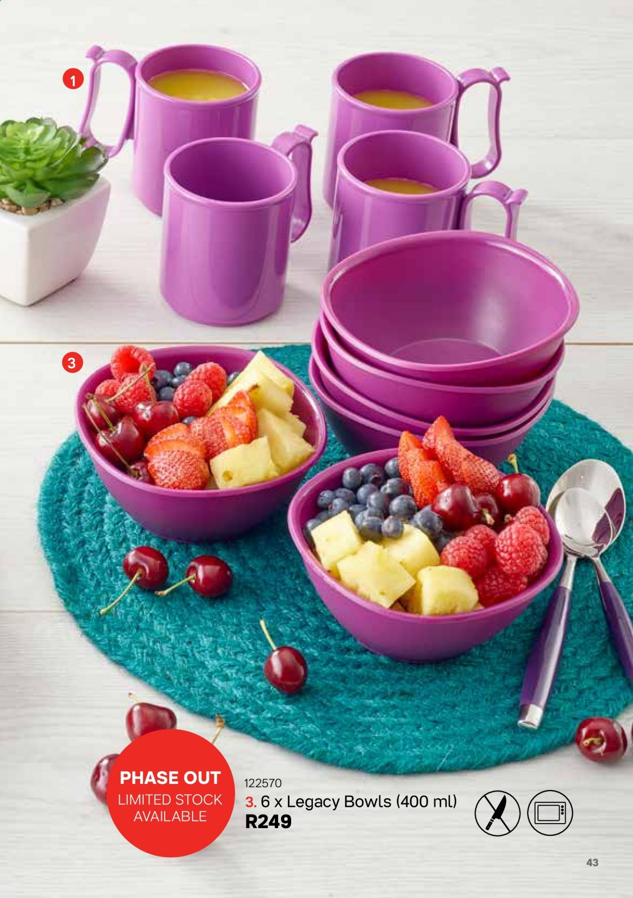 Tupperware catalogue . Page 43.
