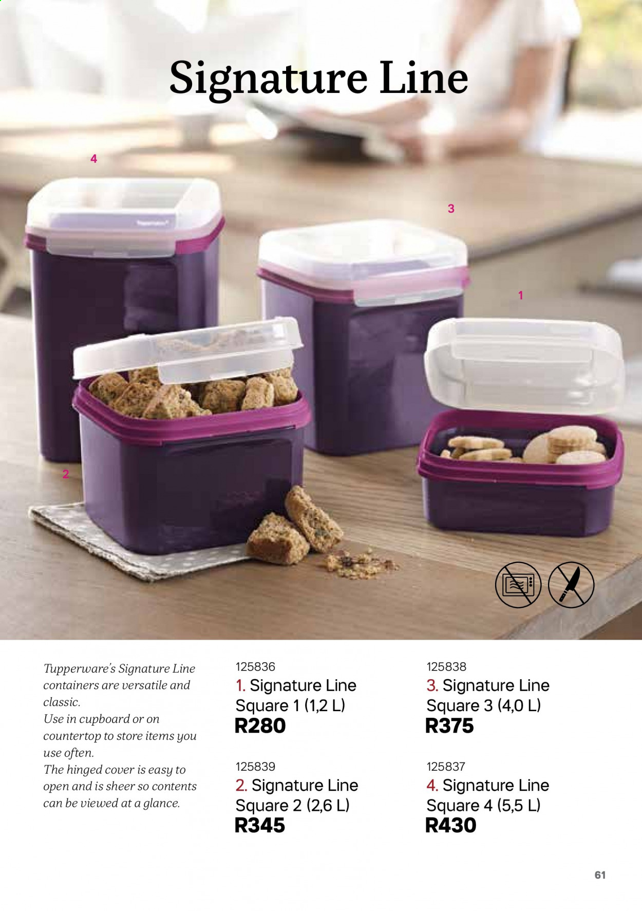 Tupperware catalogue . Page 61.