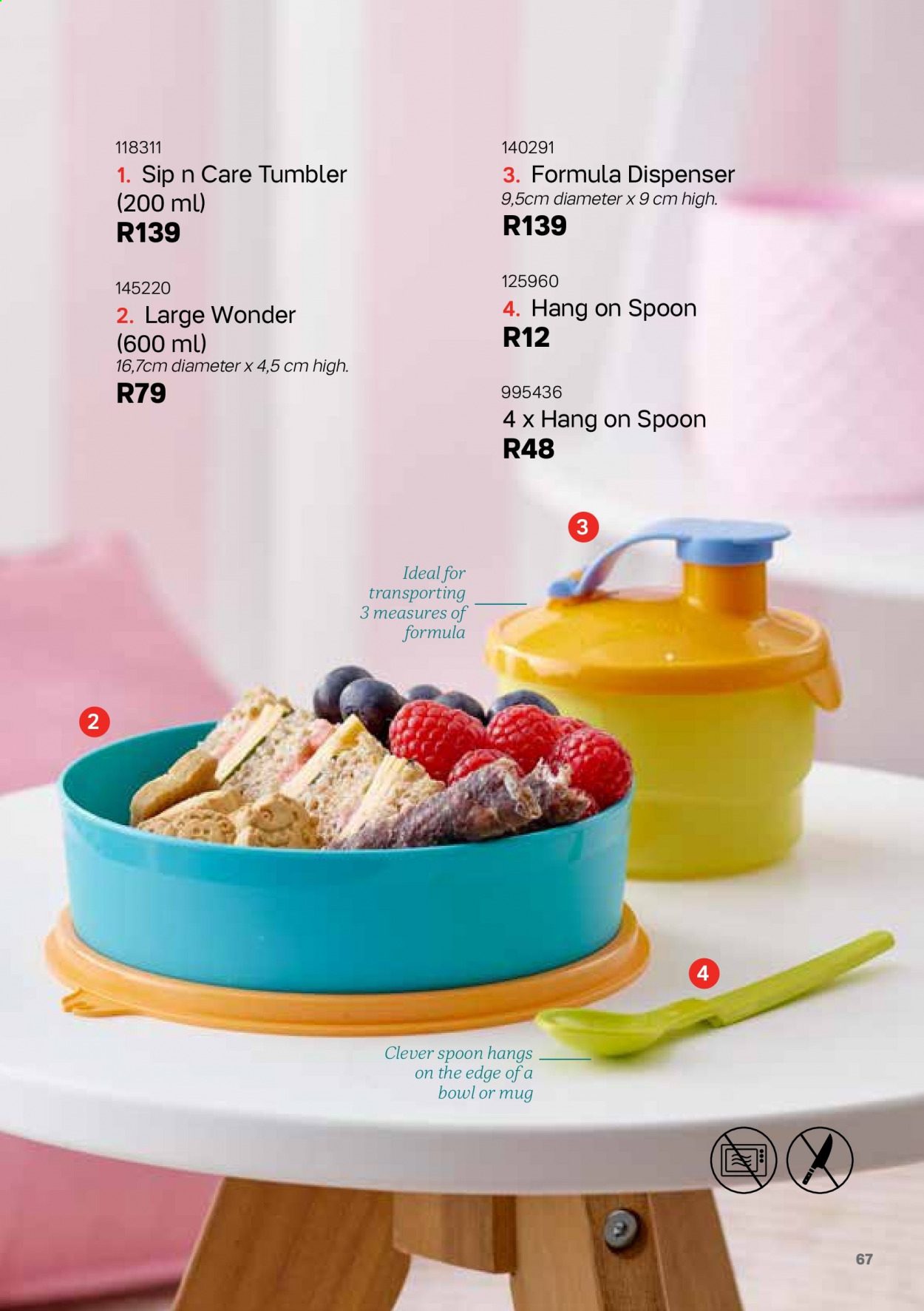 Tupperware catalogue . Page 67.