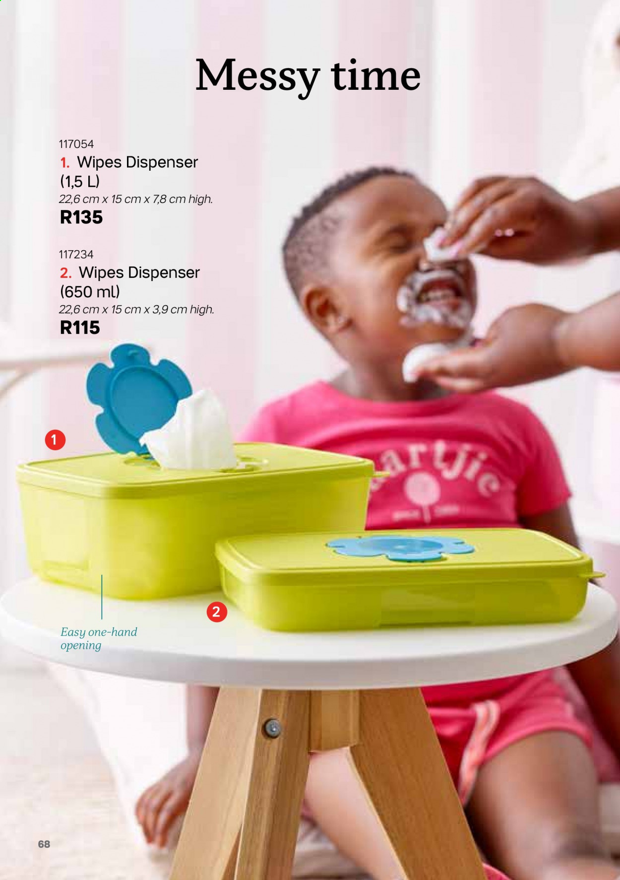 Tupperware catalogue . Page 68.