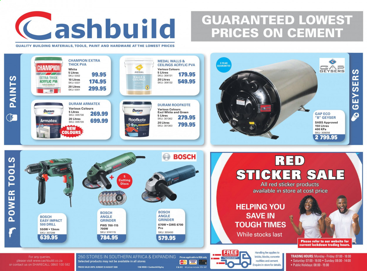 Cashbuild catalogue  - 07.30.2020 - 08.23.2020. Page 1.