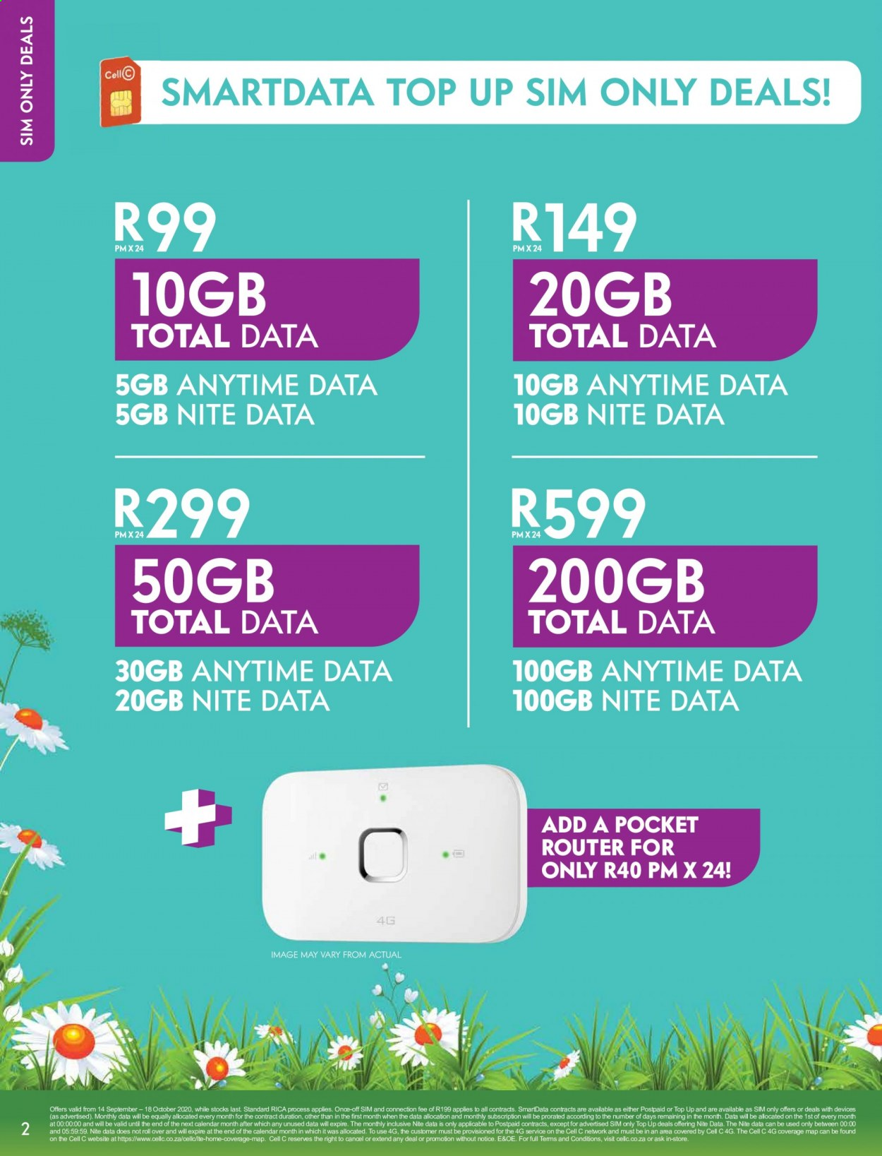 Cell C catalogue  - 09.14.2020 - 10.18.2020. Page 2.