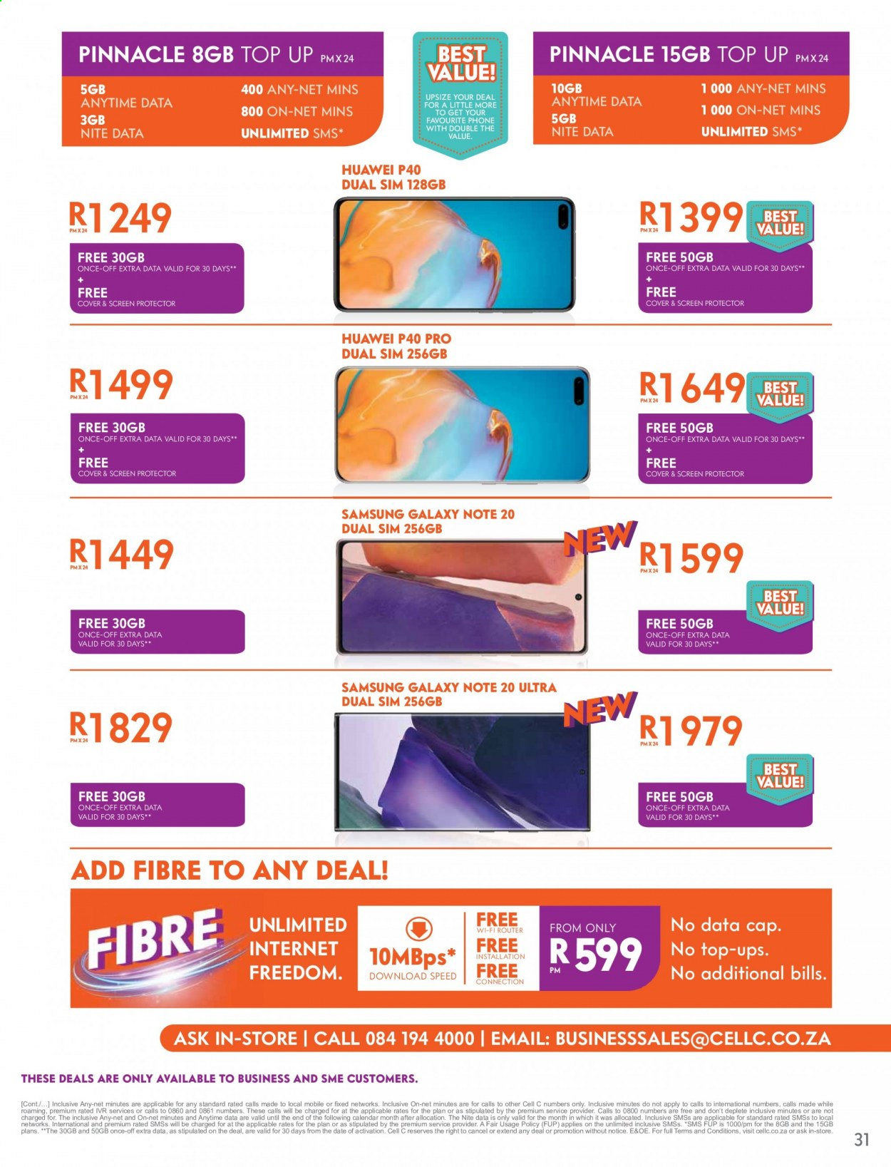 Cell C catalogue  - 09.14.2020 - 10.18.2020. Page 31.