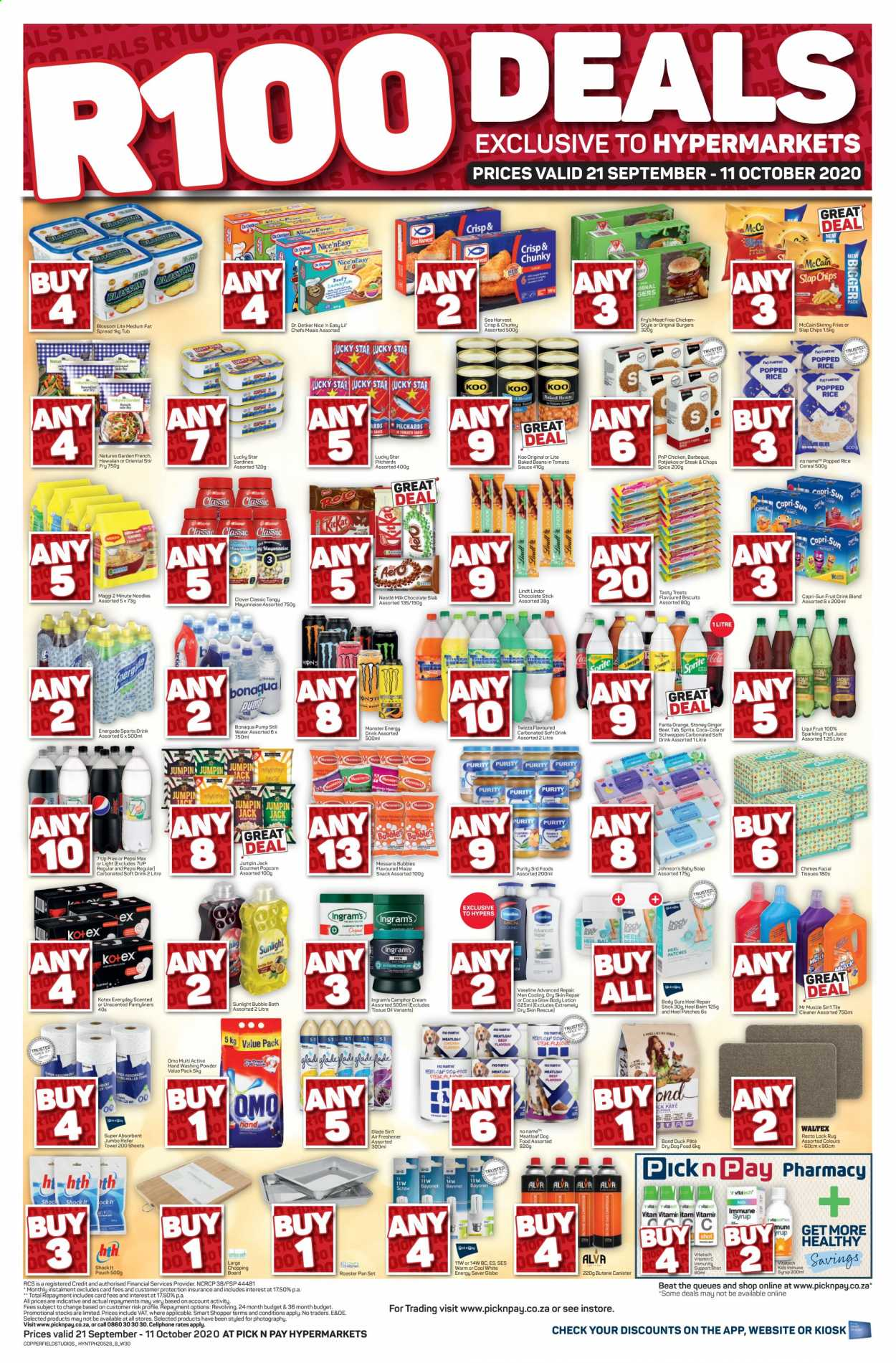 Pick n Pay catalogue  - 09.21.2020 - 10.11.2020. Page 1.