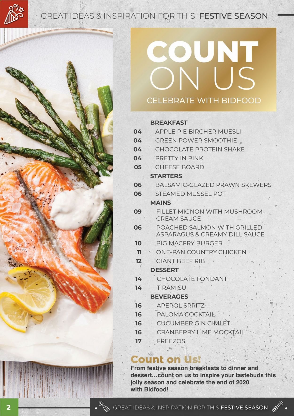 Bidfood catalogue . Page 2.